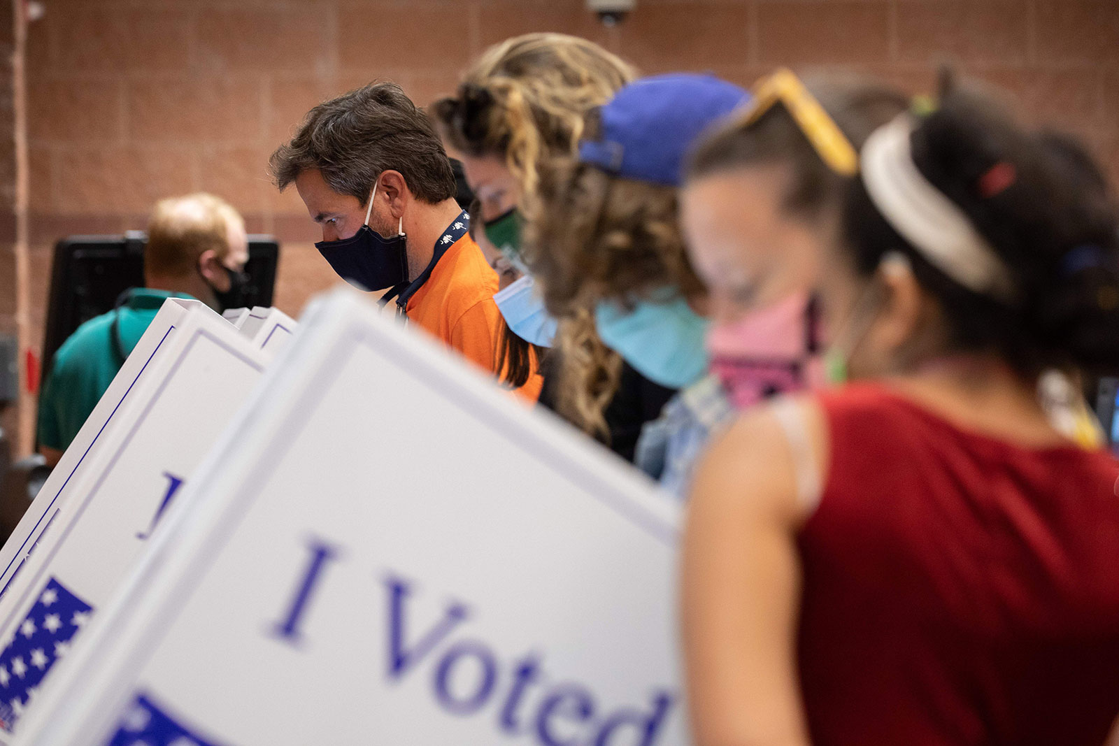 Voters cast their ballots in Charleston, South Carolina, on October 16.