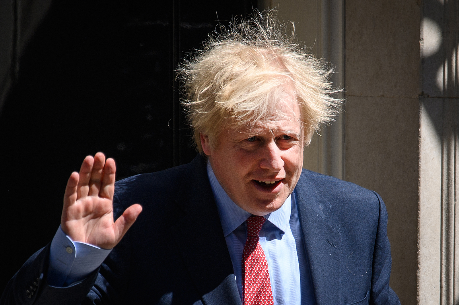 Prime Minister Boris Johnson leaves 10 Downing Street on May 20, in London.
