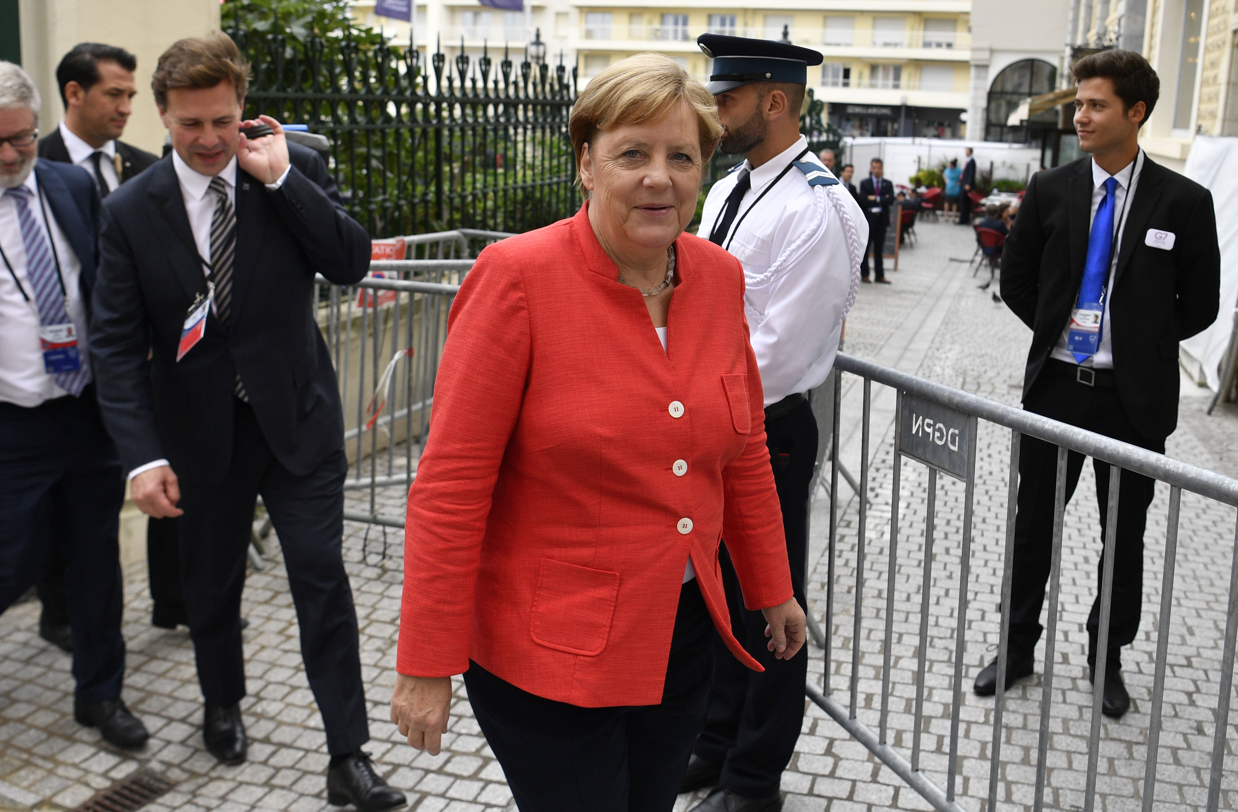 German Chancellor Angela Merkel said her priority was to resolve the conflict between Russia and Ukraine.