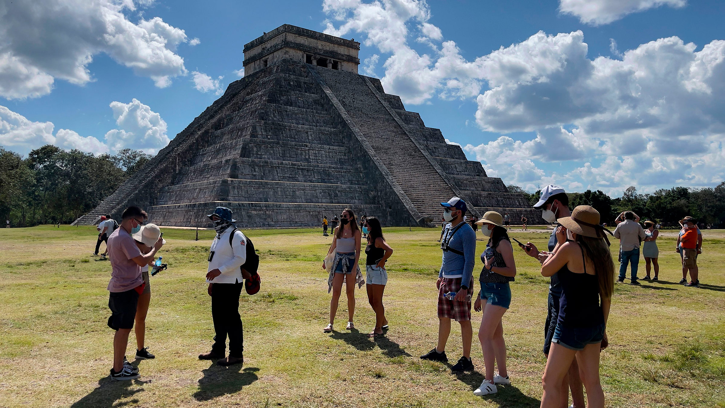 Tourists visit the Chichen Itza archaeological site in Mexico, on March 5.