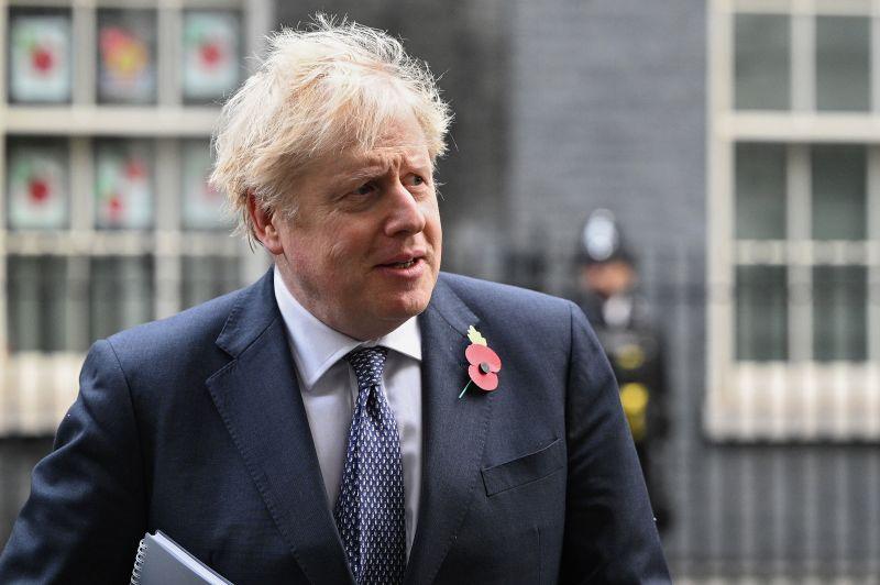 British Prime Minister Boris Johnson leaves 10 Downing Street on November 10 in London, England.