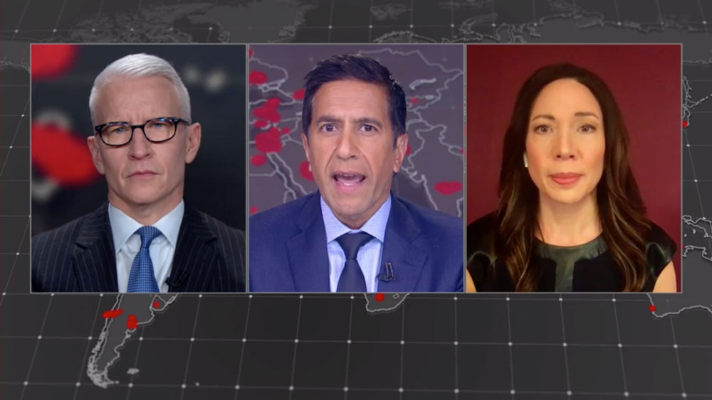 Anderson Cooper, Dr. Sanjay Gupta and Dr. Christine Moutier.