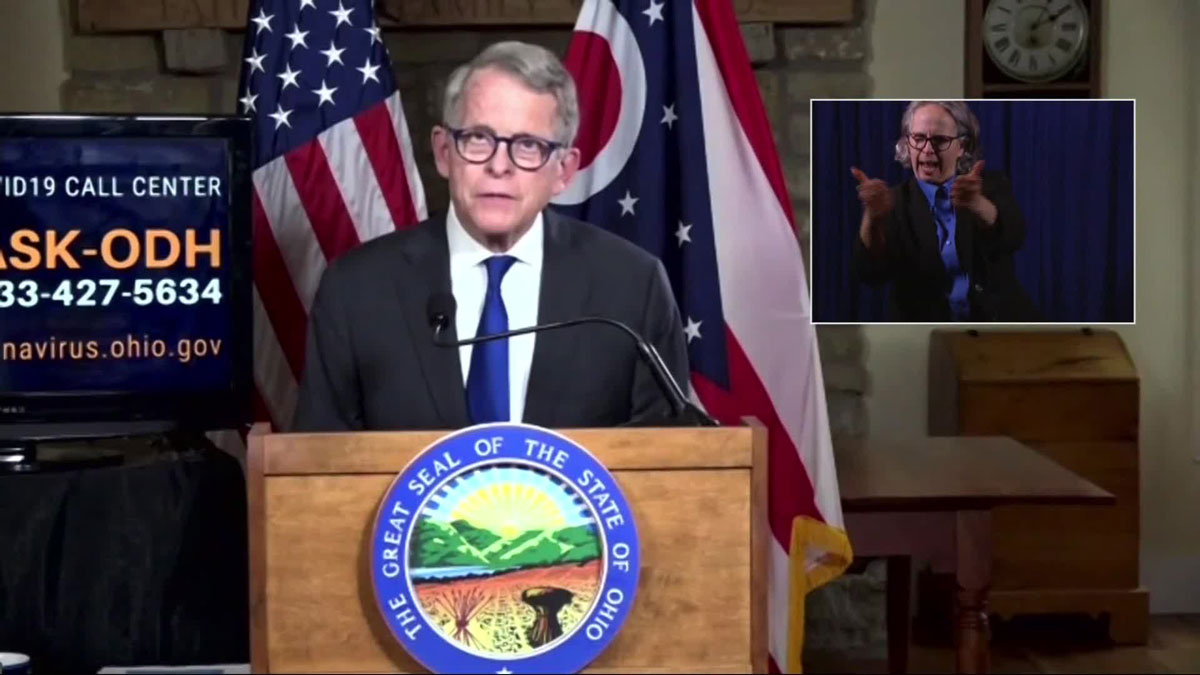 Governor Mike DeWine holds a media availability on October 15 to give an update on the status of the coronavirus response in Ohio.