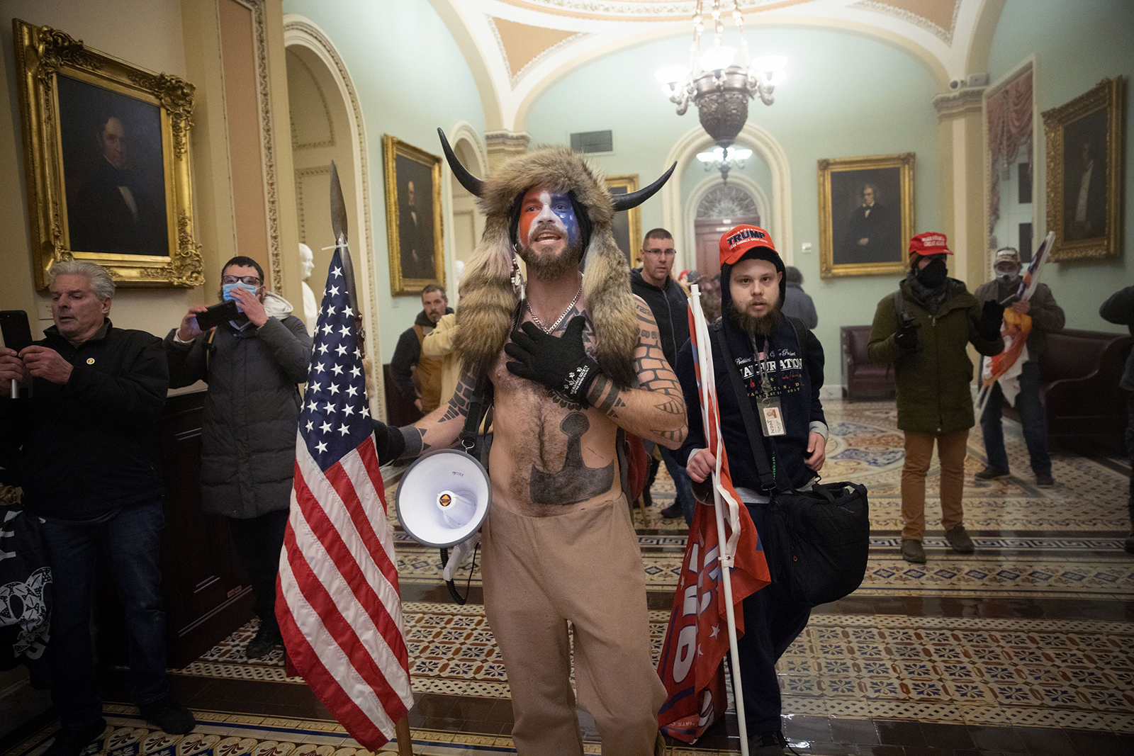 US Capitol rioter Jacob Chansley.