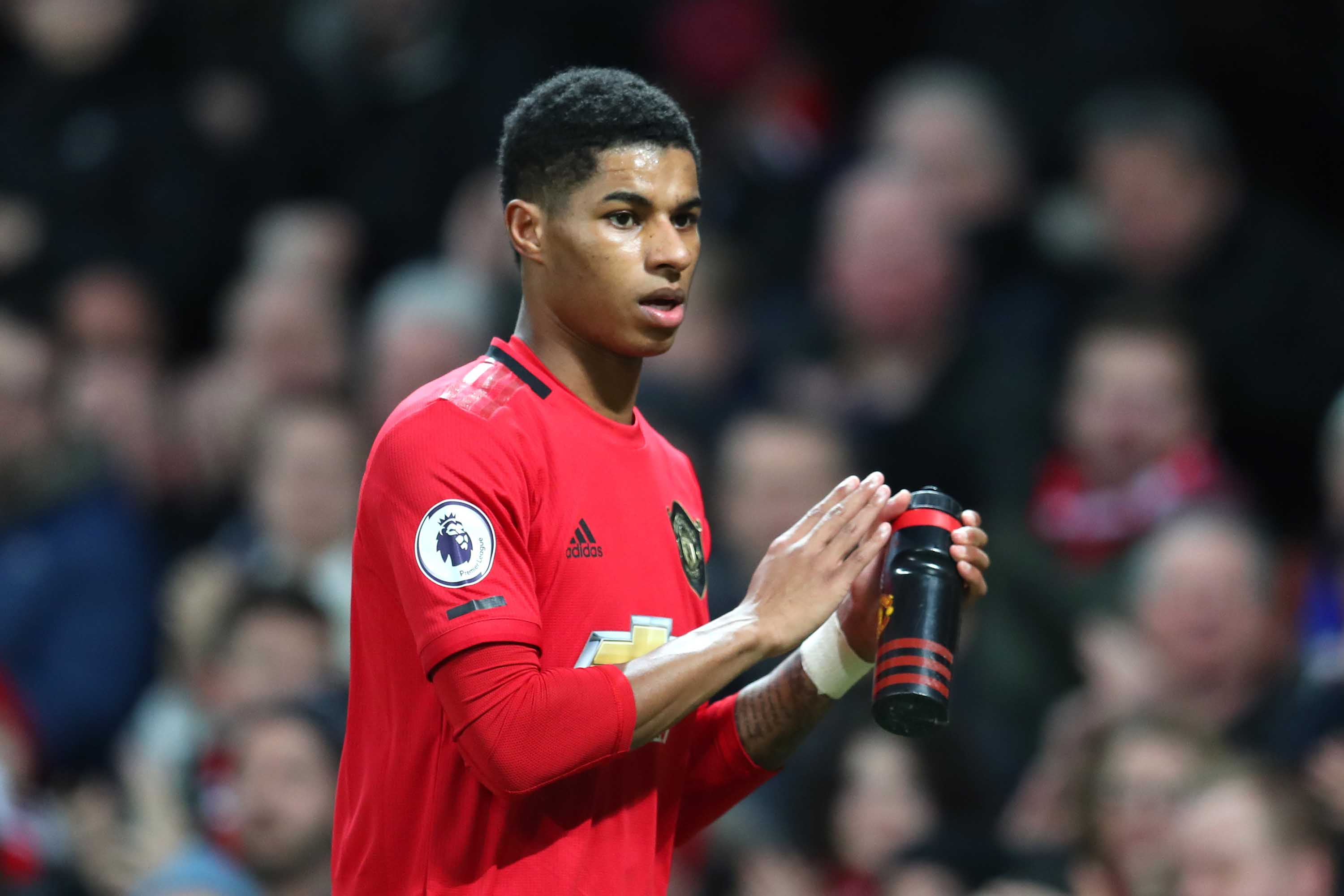 Marcus Rashford of Manchester United is pictured during a match in Manchester, England, on January 11.
