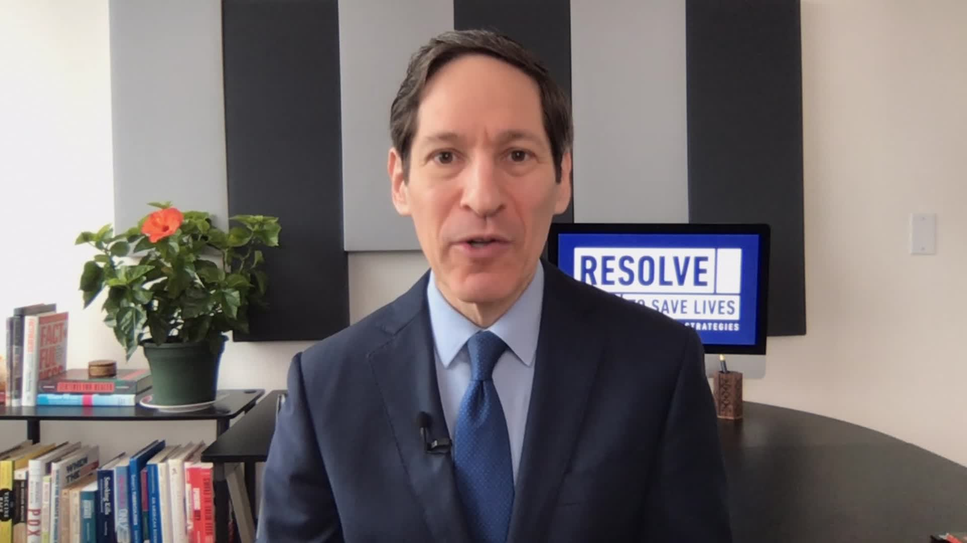 Dr. Tom Frieden, former director of the US Center for Disease Control and Prevention, speaks during an interview on November 11.