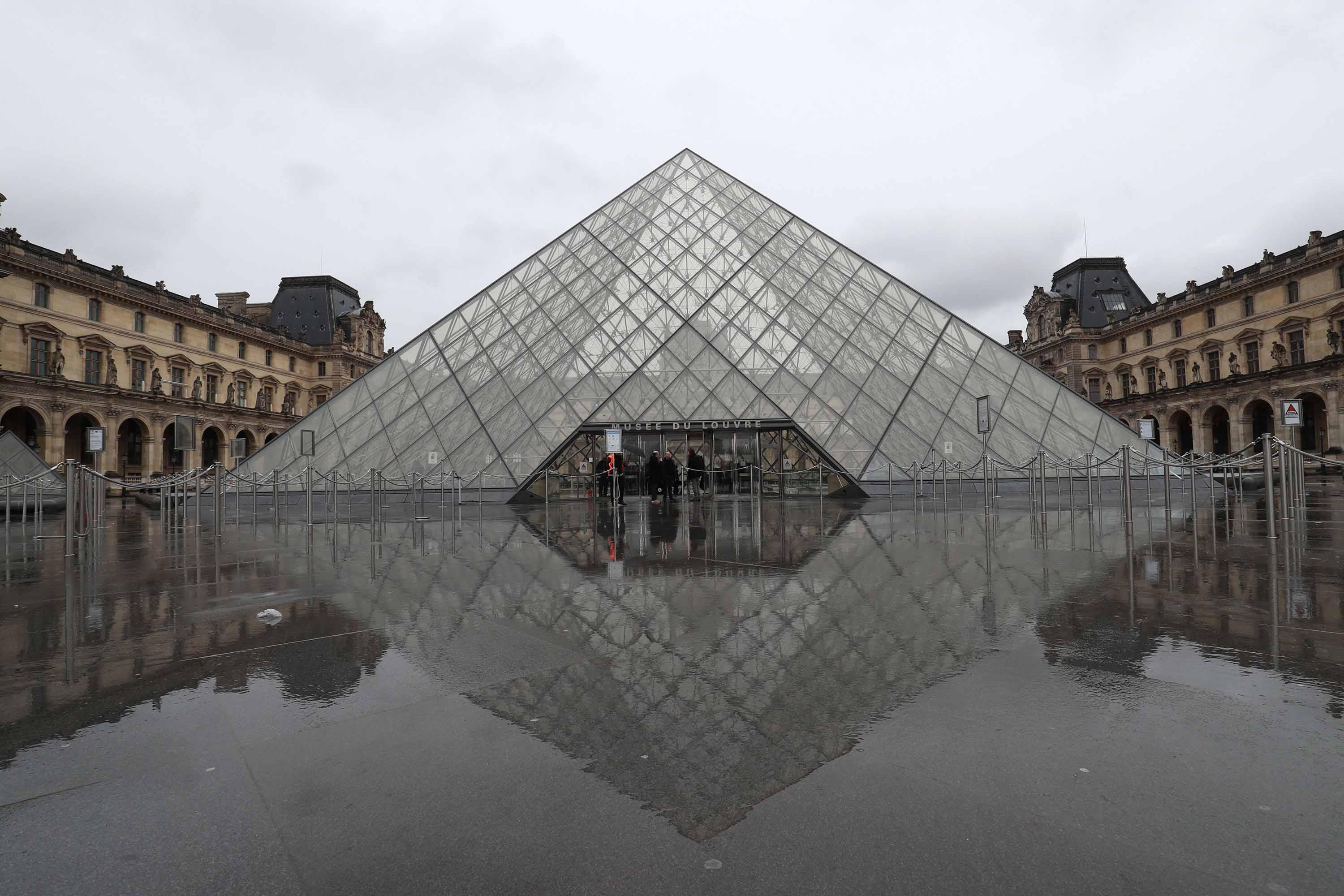 A view of the entrance to the Louvre museum in Paris, France, on March 2.