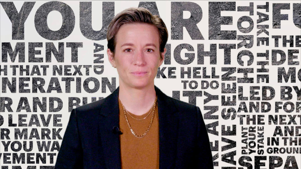 "Megan Rapinoe speaks during ""Graduate Together: America Honors the High School Class of 2020"" on May 16, 2020."