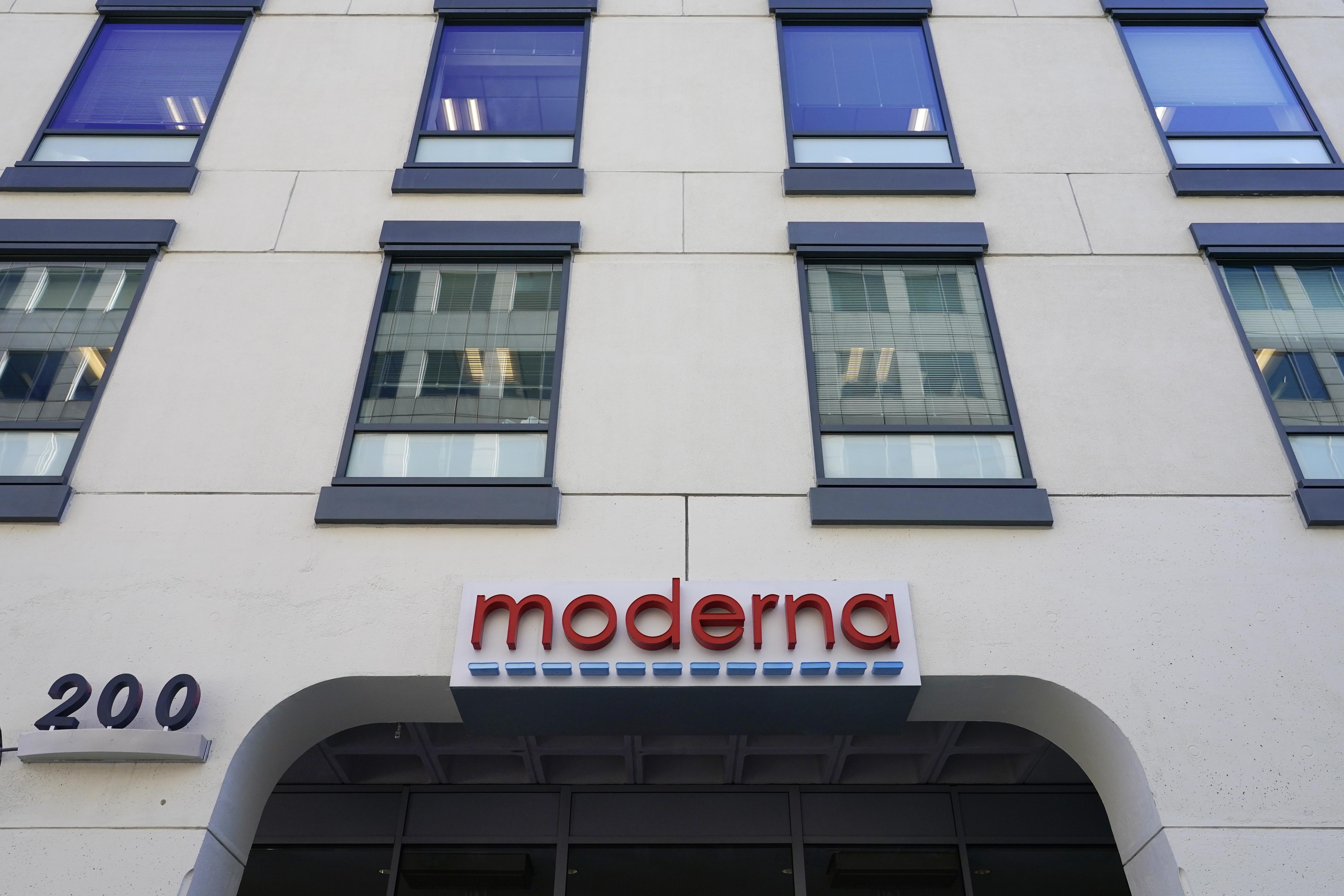 Moderna, Inc. headquarters in Cambridge, Massachusetts on Tuesday, December 15.