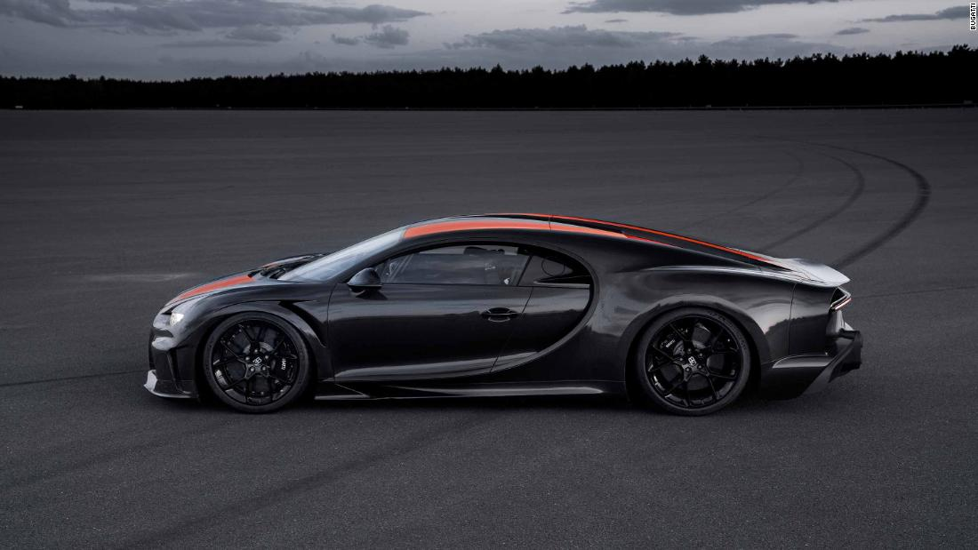 The Chiron Super Sport 300+ has a longer tail than a prototype that recently went nearly 305 mph.