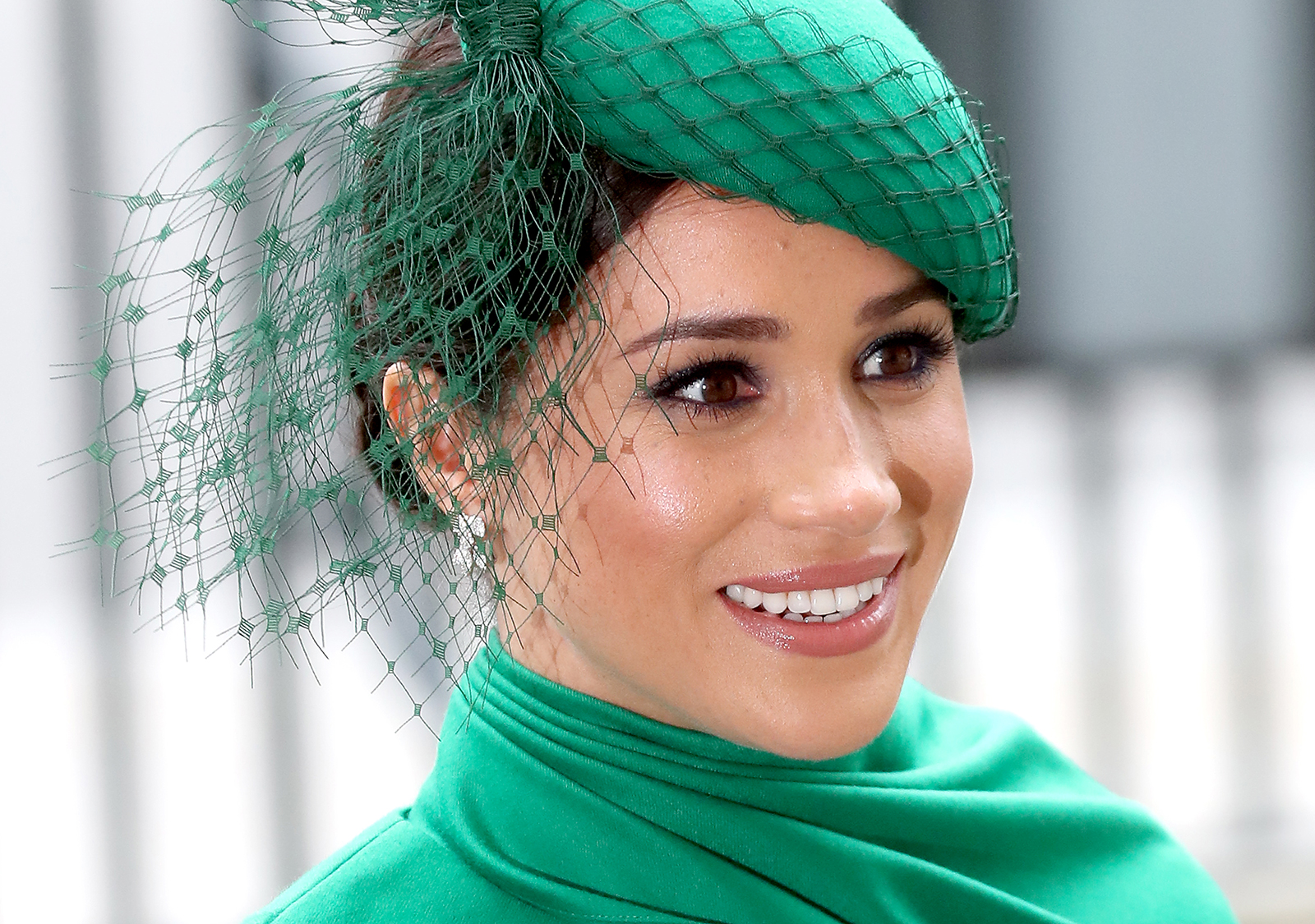 Meghan, Duchess of Sussex, meets children as she attends the Commonwealth Day Service 2020 on March 9, in London.