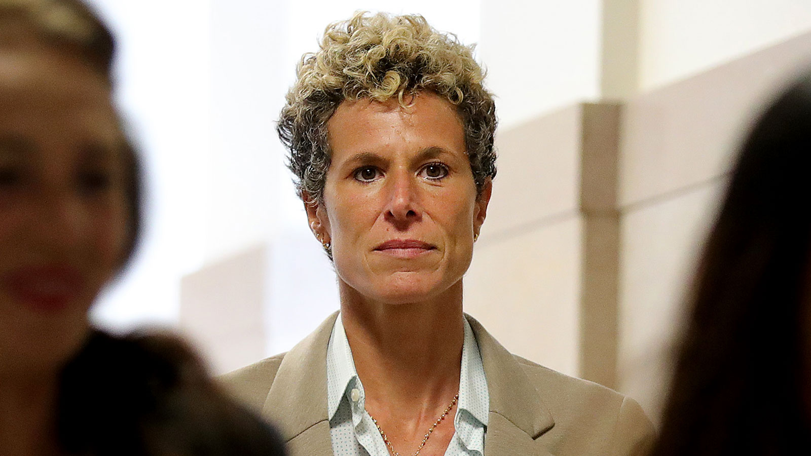 Andrea Constand attends Bill Cosby's sentencing hearing in Norristown, Pennsylvania, in 2018.