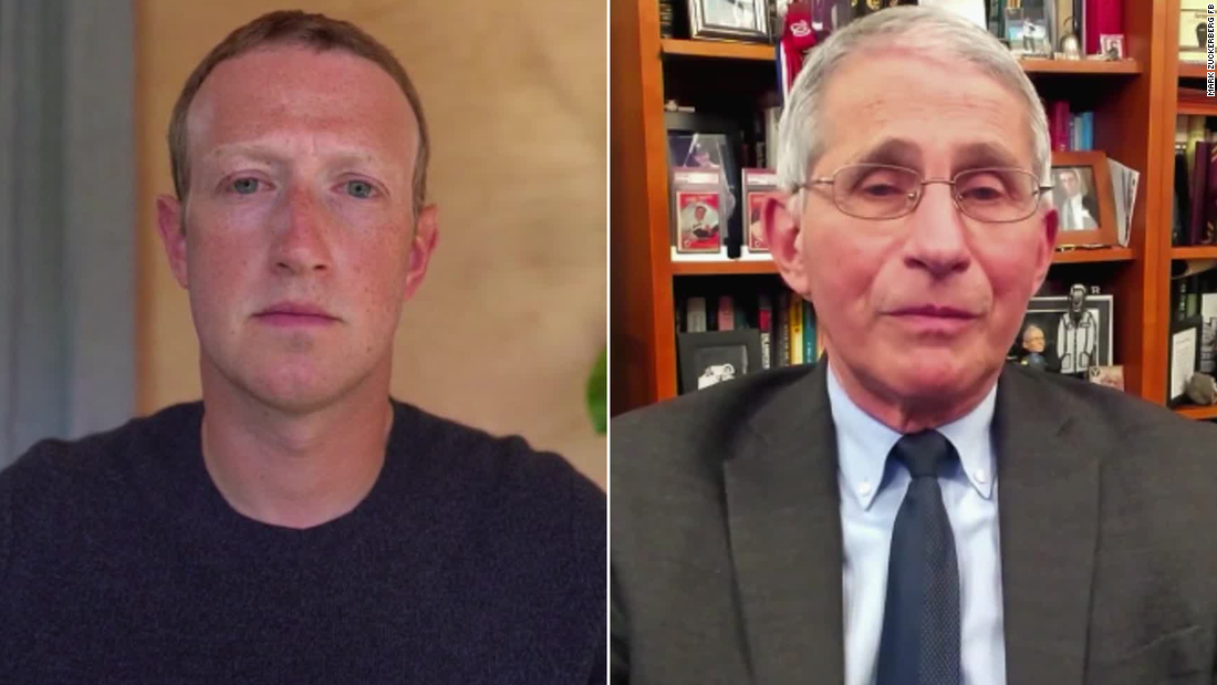 Mark Zuckerberg and Dr. Anthony Fauci.