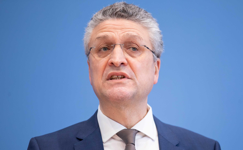 Lothar Wieler, President of Germany's Robert Koch Institute, speaks to the media on March 5, in Berlin.