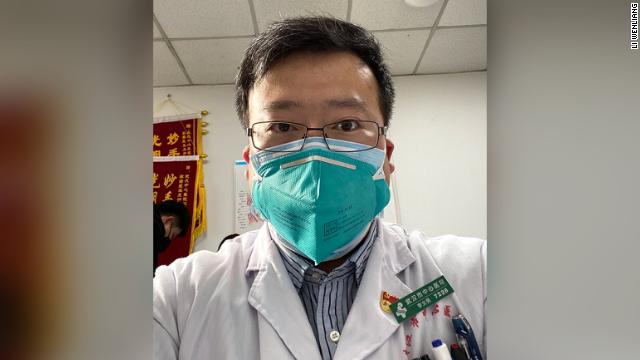Li Wenliang, the Chinese whistleblower doctor in Wuhan who died on February 6, 2020.