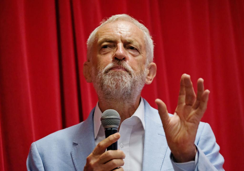 Corbyn speaking in Glasgow on Saturday.