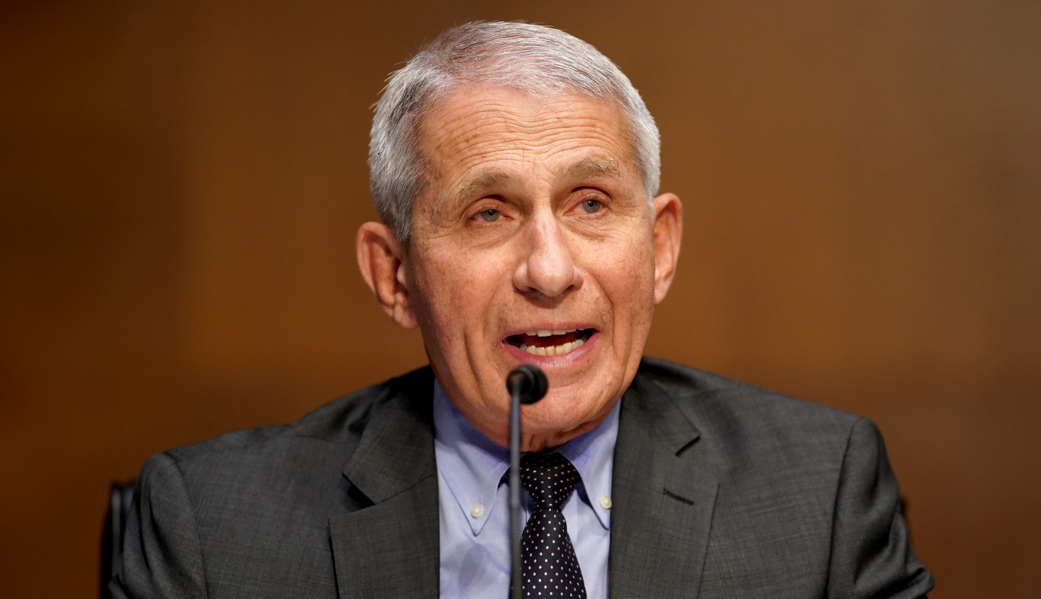 Dr. Anthony Fauci, director of the National Institute of Allergy and Infectious Diseases, speaks during a Senate Health, Education, Labor and Pensions Committee hearing to discuss the ongoing federal response to COVID-19 on May 11 in Washington, DC.