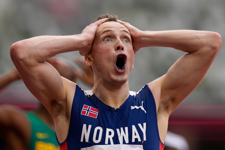 Norges Carsten Warholm svarte med å vinne finalen på 400 m hekk, menn tirsdag.
