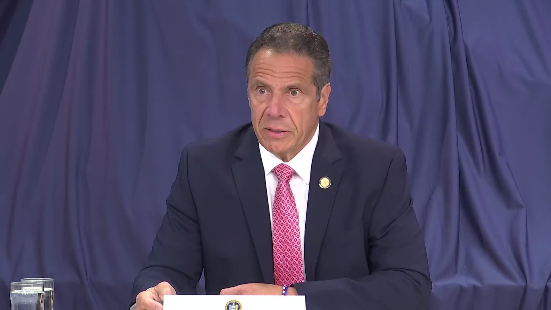New York Gov. Andrew Cuomo speaks du