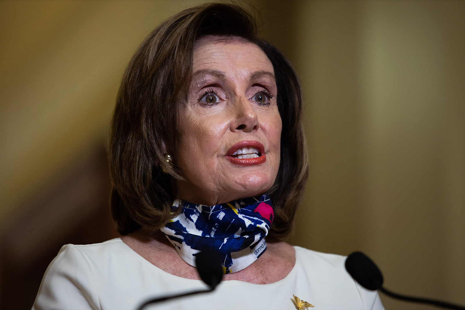 Speaker of the House Nancy Pelosi, arrives to speak at the US Capitol in Washington, DC on May 12.