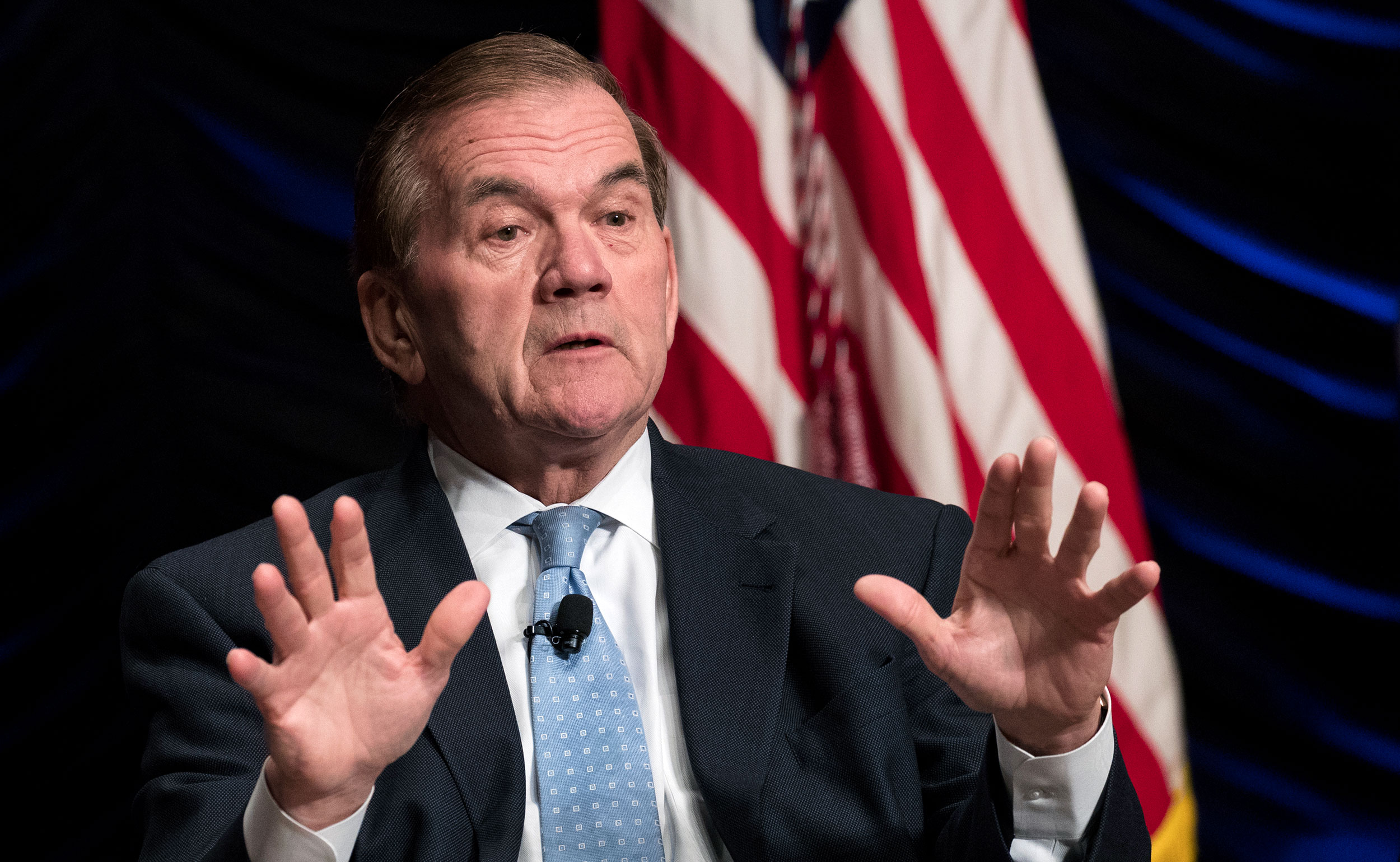 Former Department of Homeland Security Secretary Tom Ridge speaks during an event in Washington, DC in 2018.