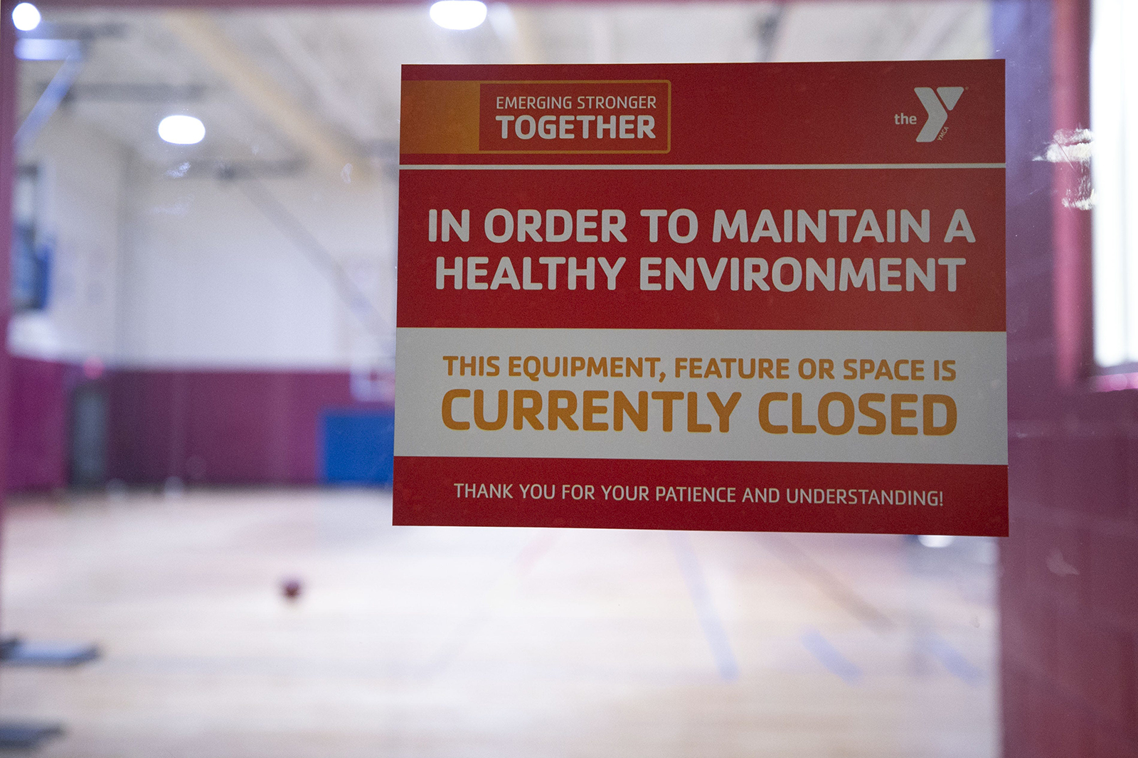 The workout facilities at the Legacy Foundation Chris-Town YMCA in Phoenix are seen closed on May 13, in Phoenix.