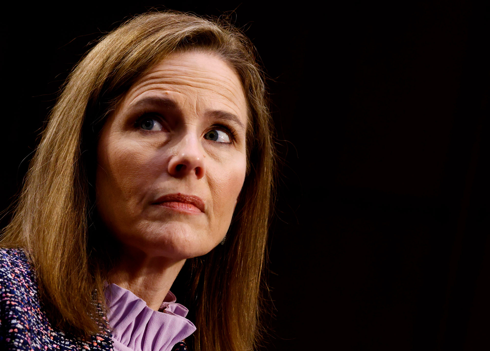 Judge Amy Coney Barrett testifies on the third day of her confirmation hearing before the Senate Judiciary Committee on Capitol Hill on October 14 in Washington, DC.