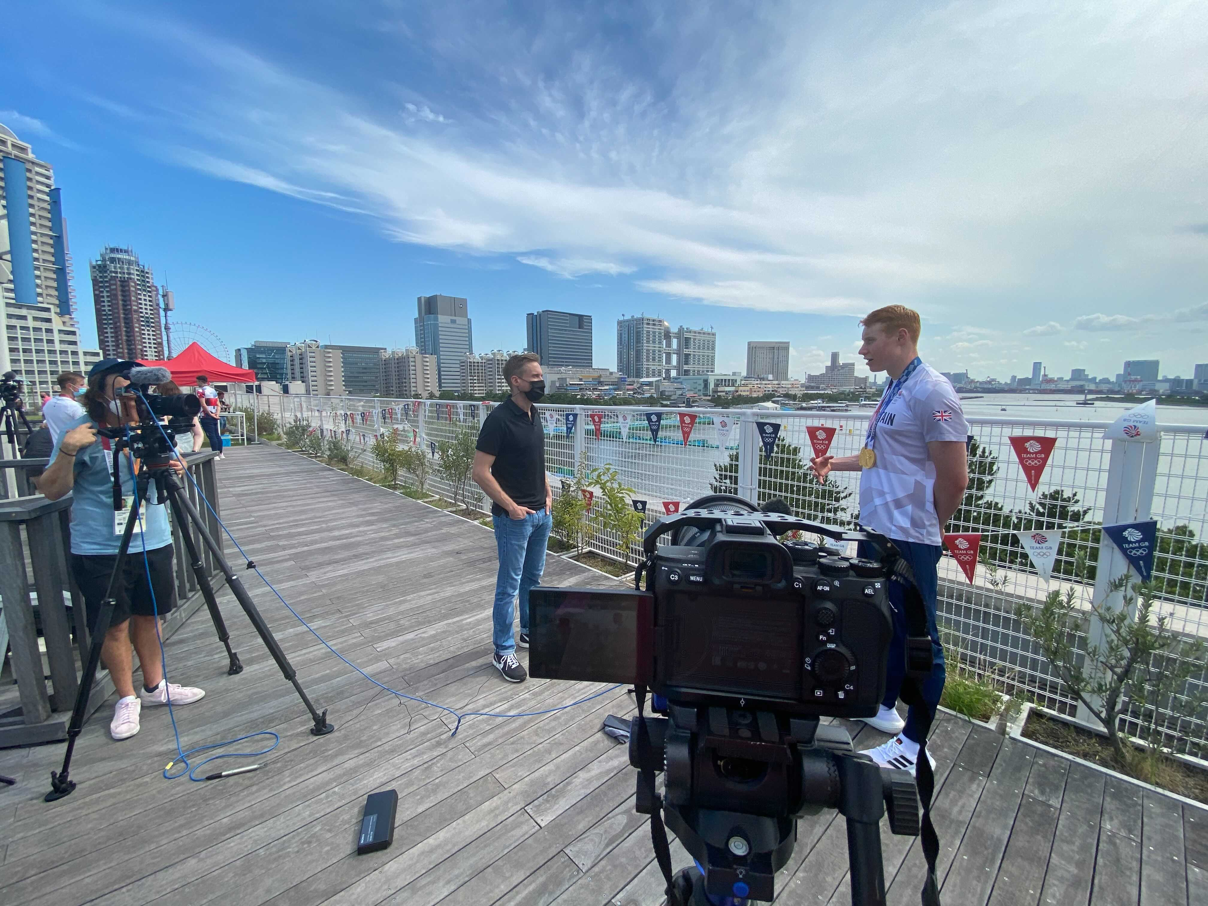 CNN interviews Team GB swimmer Tom Dean. The interviews are kept to under ten minutes.