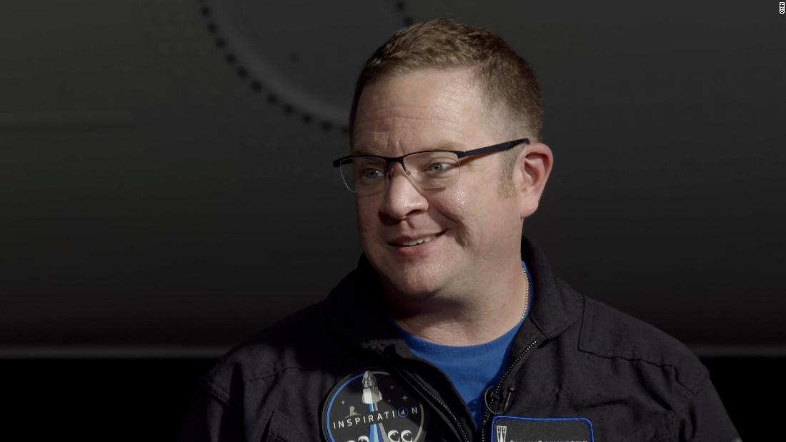 Chris Sembroski during the crew's interview with Rachel Crane.