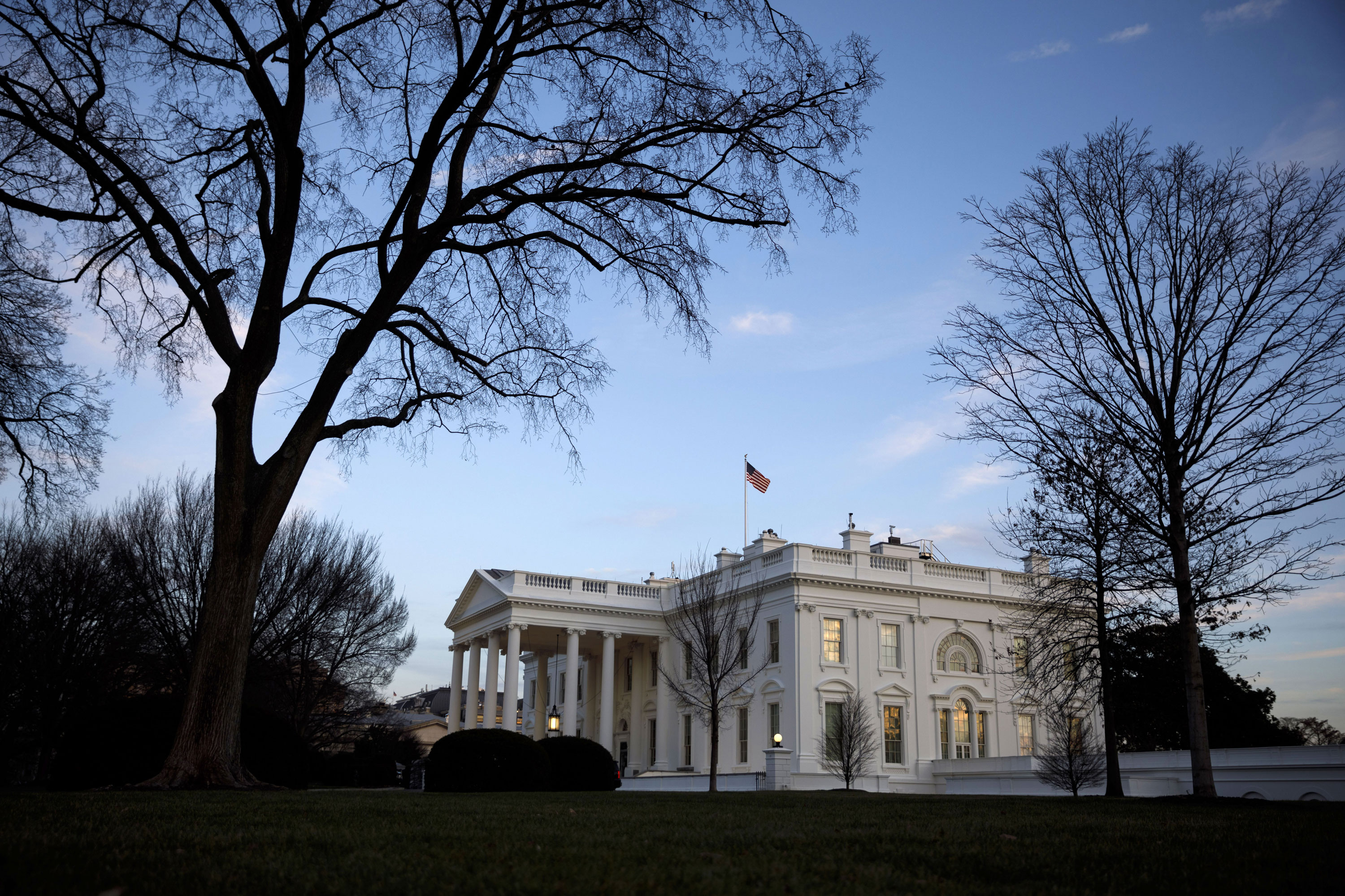 The White House is pictured on January 7.