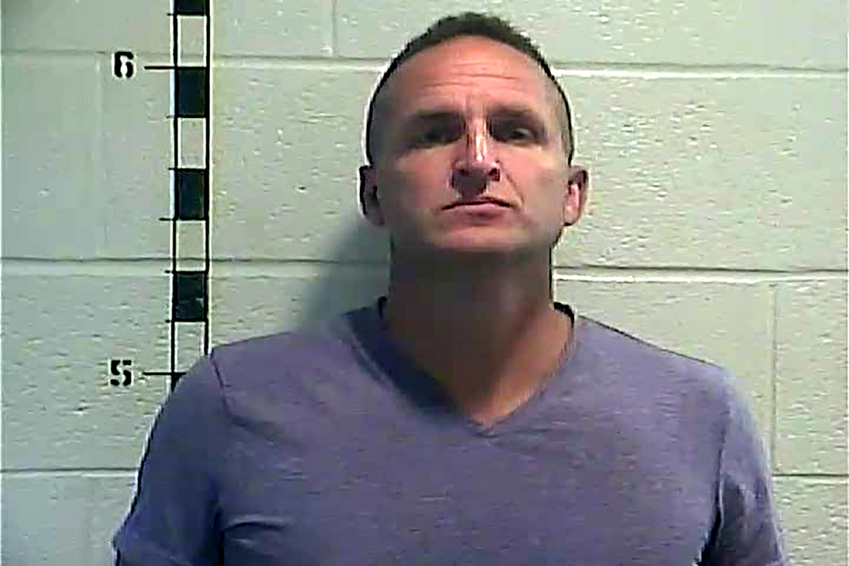 In this handout photo provided by the Shelby County Detention Center, former Louisville Police detective Brett Hankison poses on September 23, in Louisville, Kentucky.