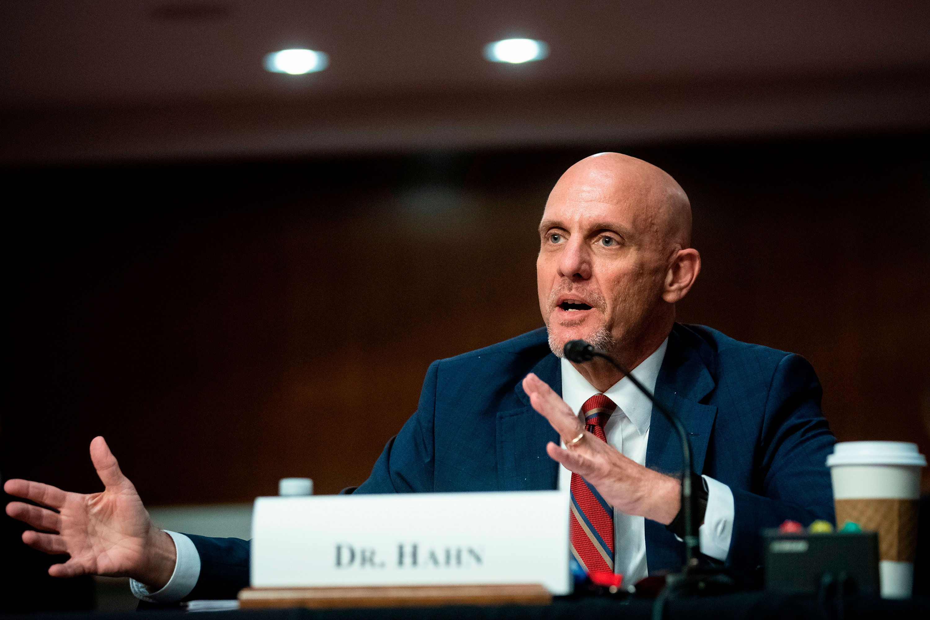 Dr. Stephen Hahn at hearing on Capitol Hill on June 30.