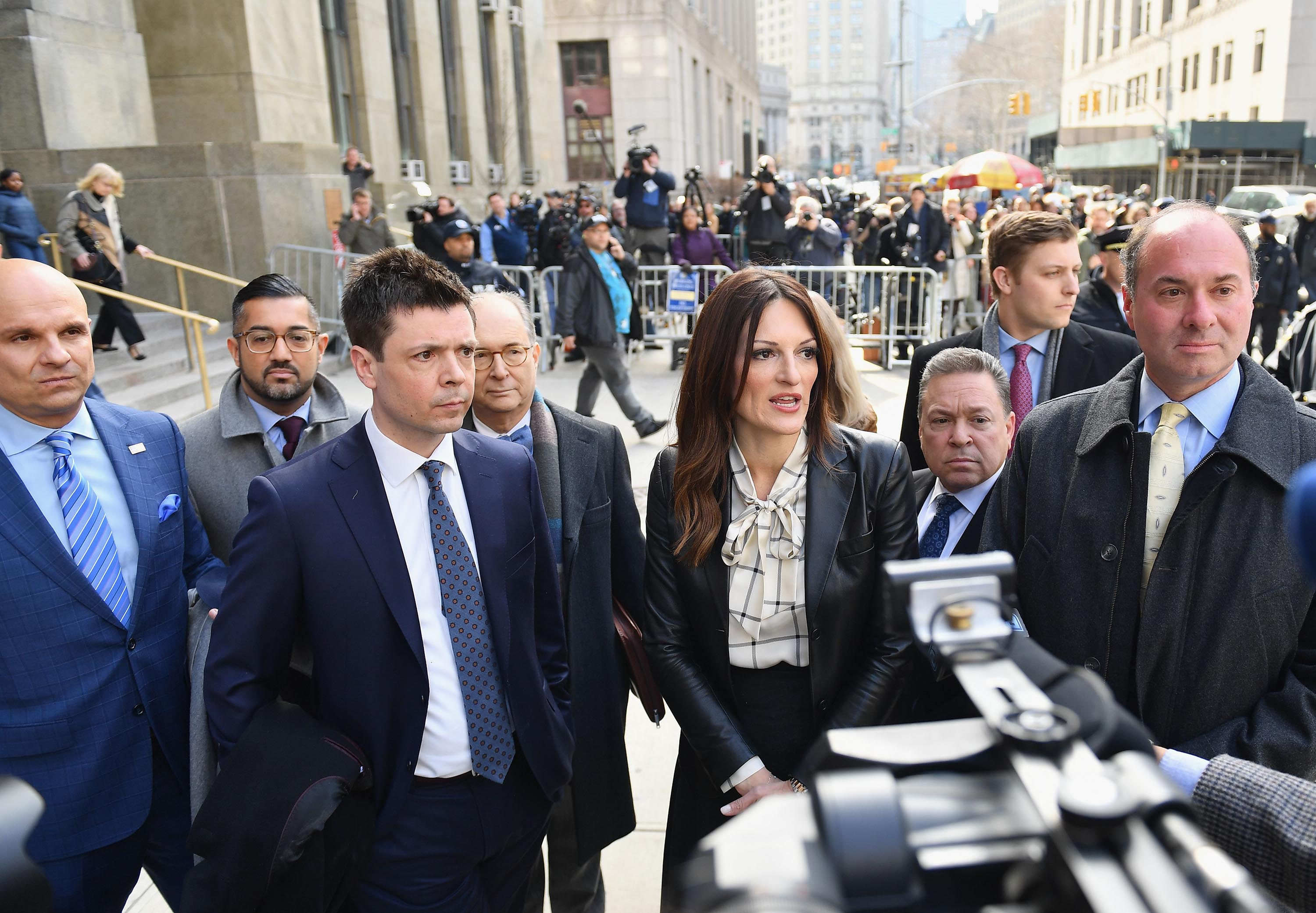 Donna Rotunno, lead defense attorney for Harvey Weinstein, leaves the Manhattan Criminal Court, on February 24, 2020 in New York City.