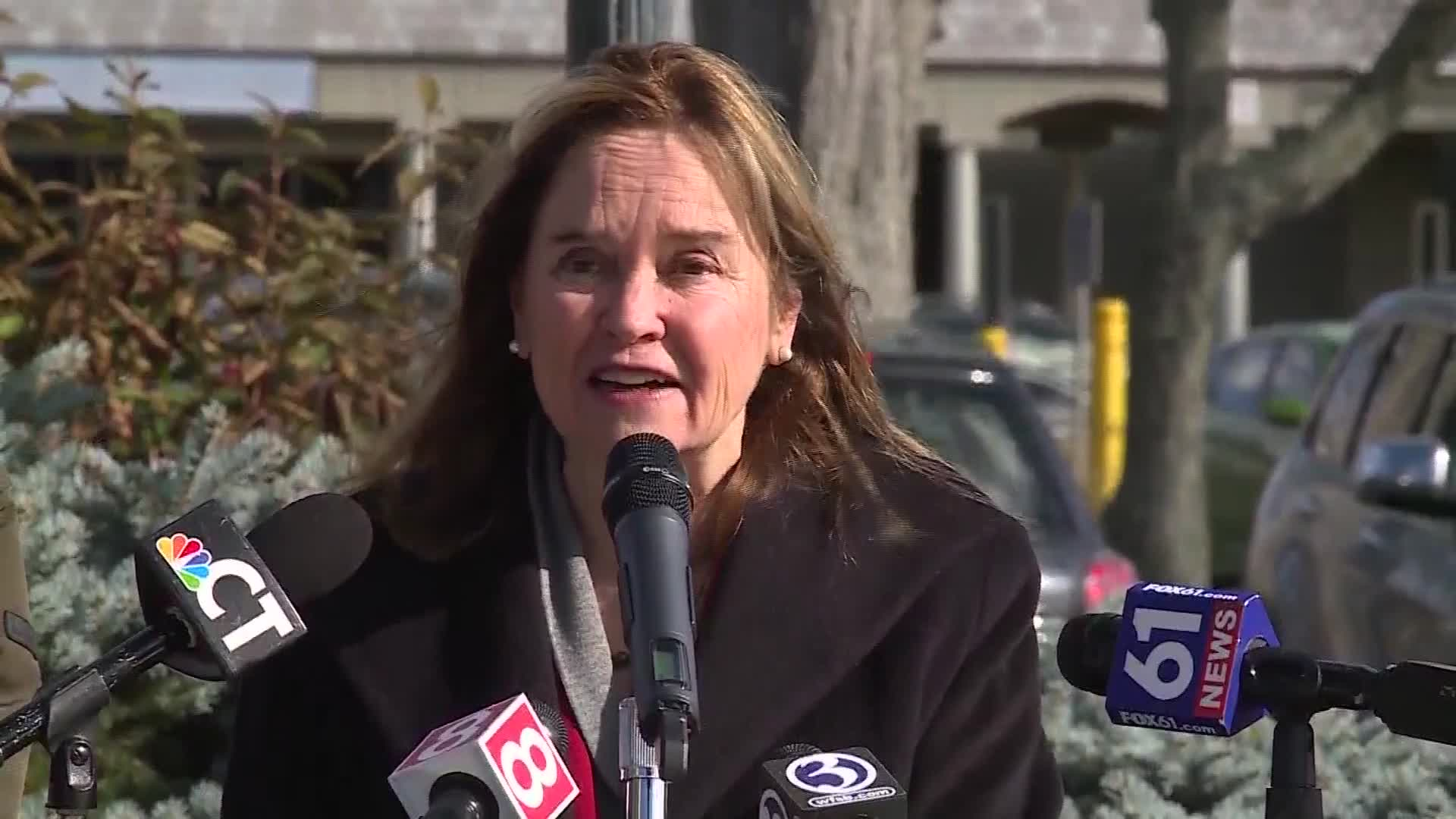 Secretary of the State Denise Merrill speaks during a news conference on November 2 in Bloomfield, Connecticut.