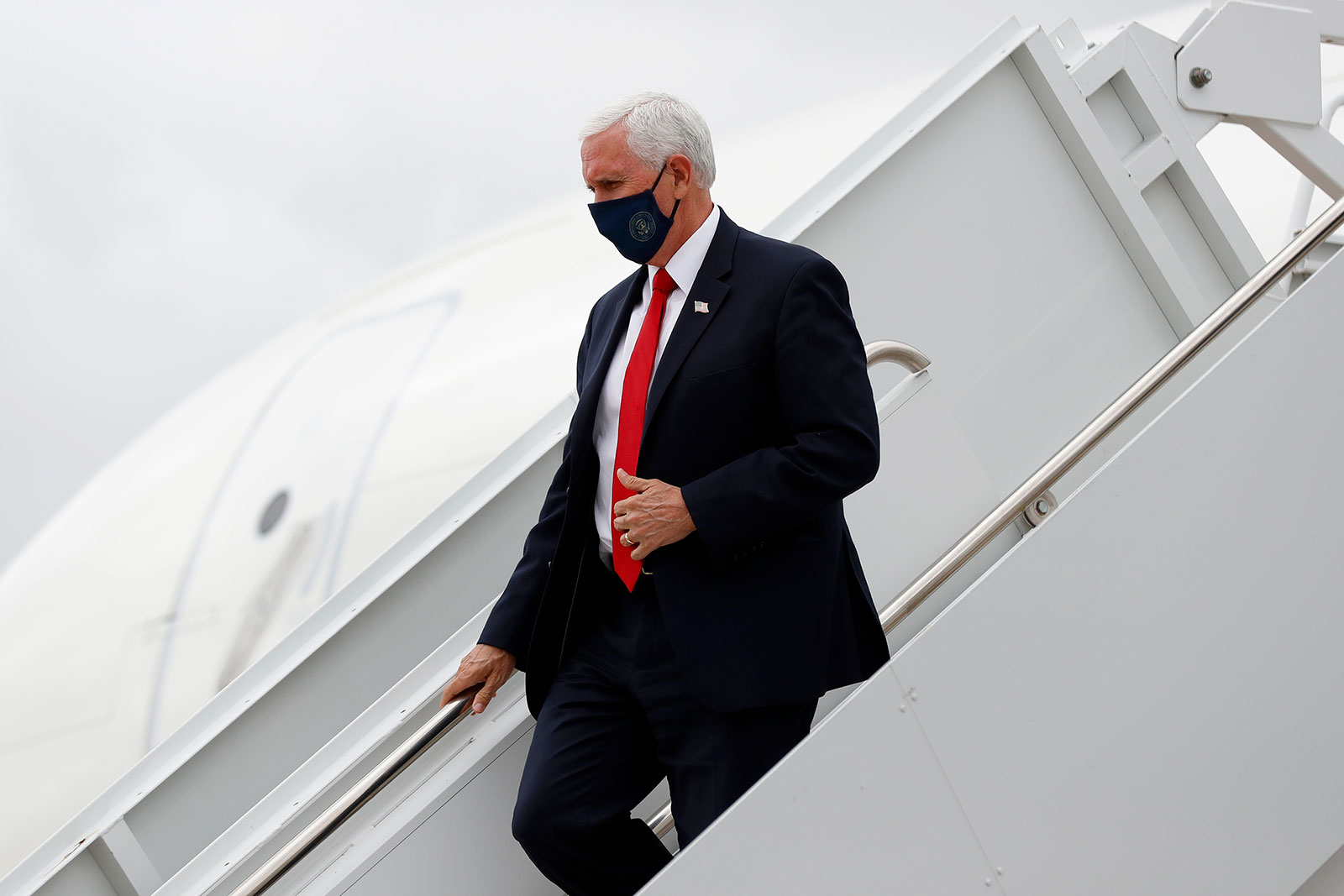 Vice President Mike Pence arrives at Love Field in Dallas on Sunday, June 28.