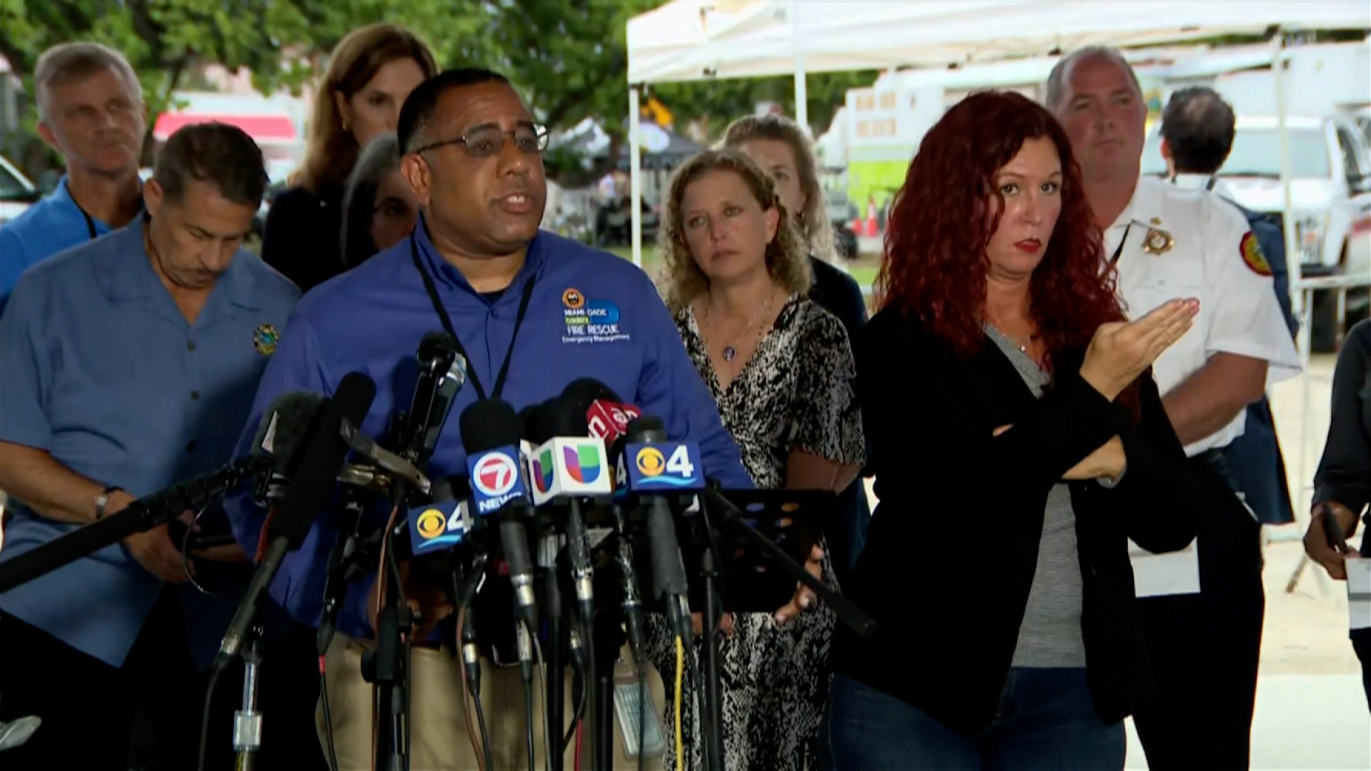 Charles Cirillo speaks at a news conference on Thursday, in Surfside, Florida.