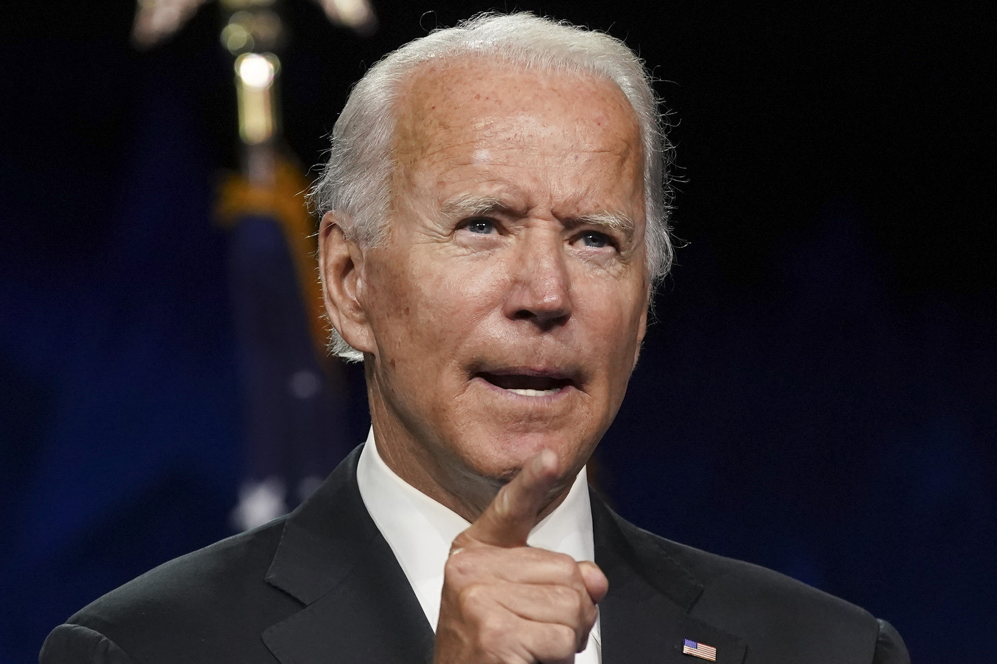 Former Vice President Joe Biden, Democratic presidential nominee, speaks during the Democratic National Convention at the Chase Center in Wilmington, Delaware, U.S., on Thursday, August 20.