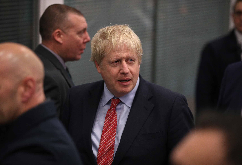 Prime Minister Boris Johnson attends the vote declaration in Uxbridge, England. Photo: Dan Kitwood/Getty Images