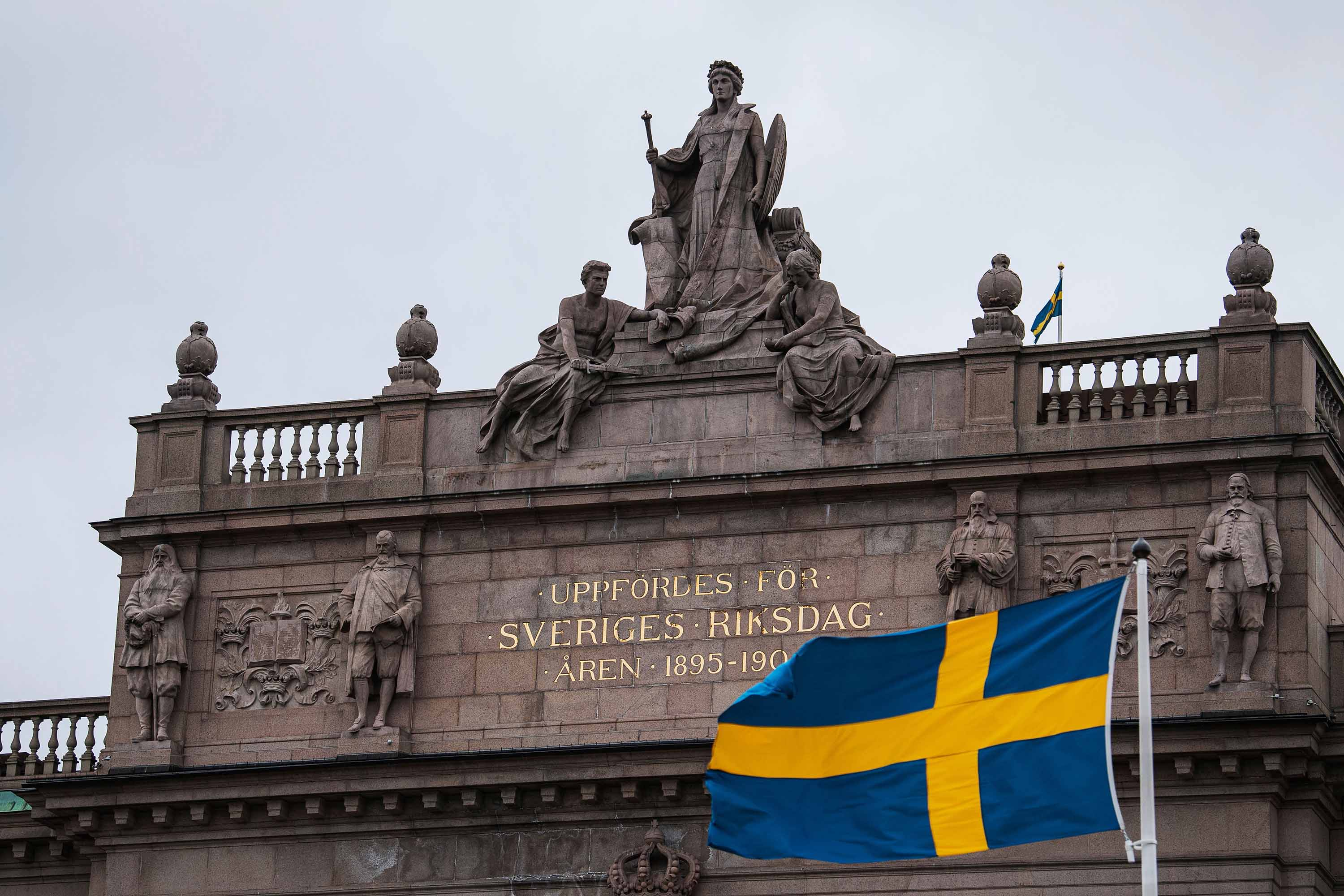 The Swedish Parliament is pictured in April 2020, in Stockholm.