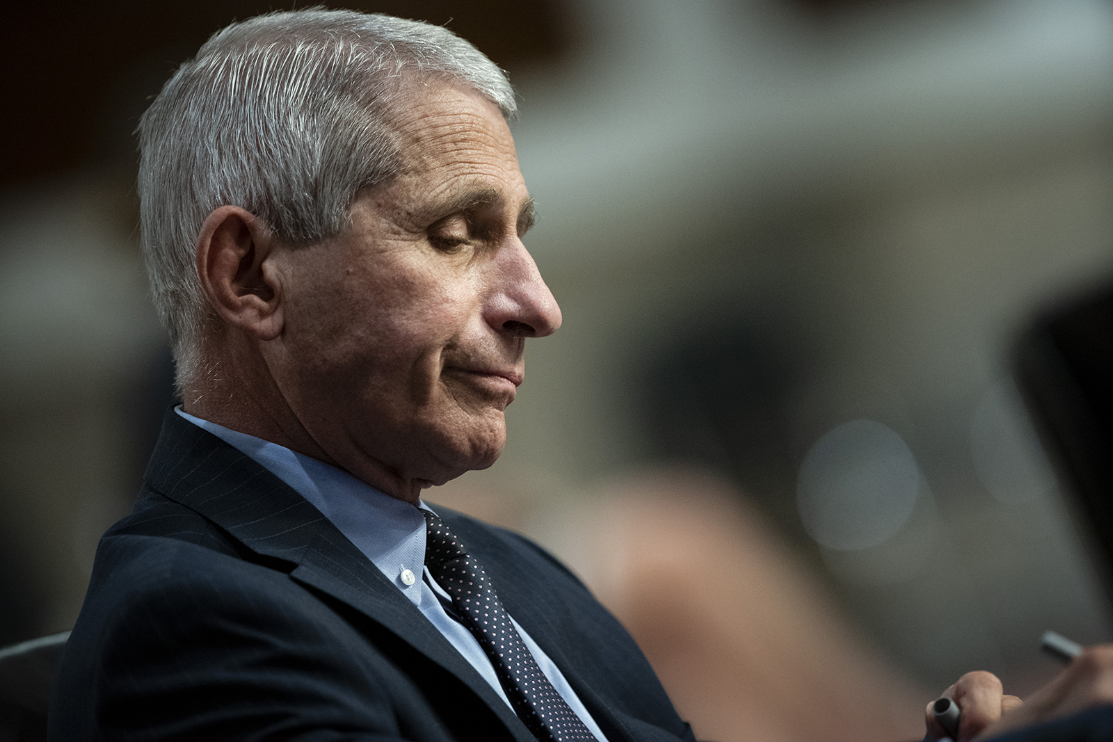 Anthony Fauci, director of the National Institute of Allergy and Infectious Diseases, listens during a Senate Health, Education, Labor and Pensions Committee hearing in Washington, DC on June 30.