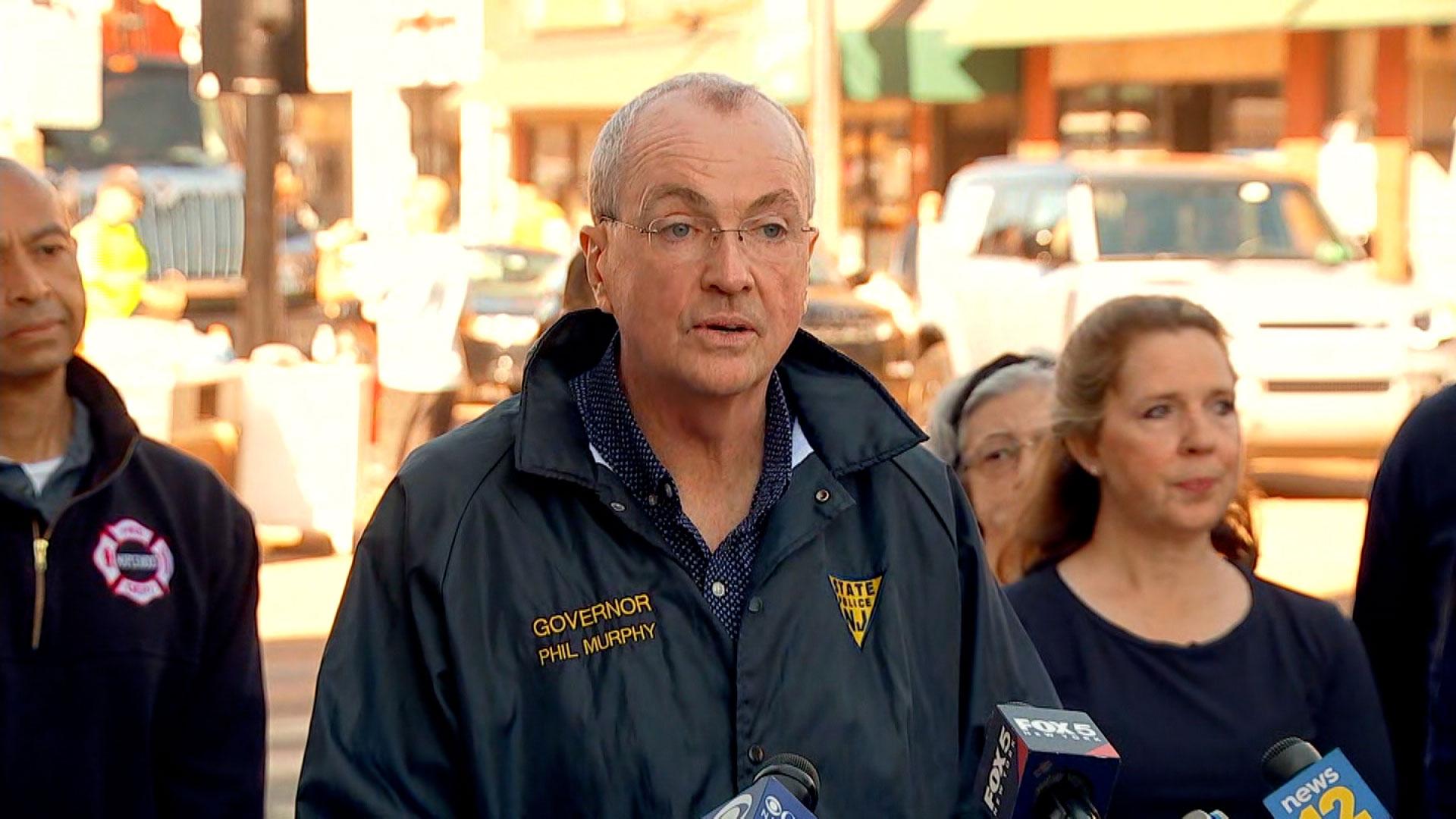 Gov. Phil Murphy speaks in Millburn, New Jersey, on September 3.