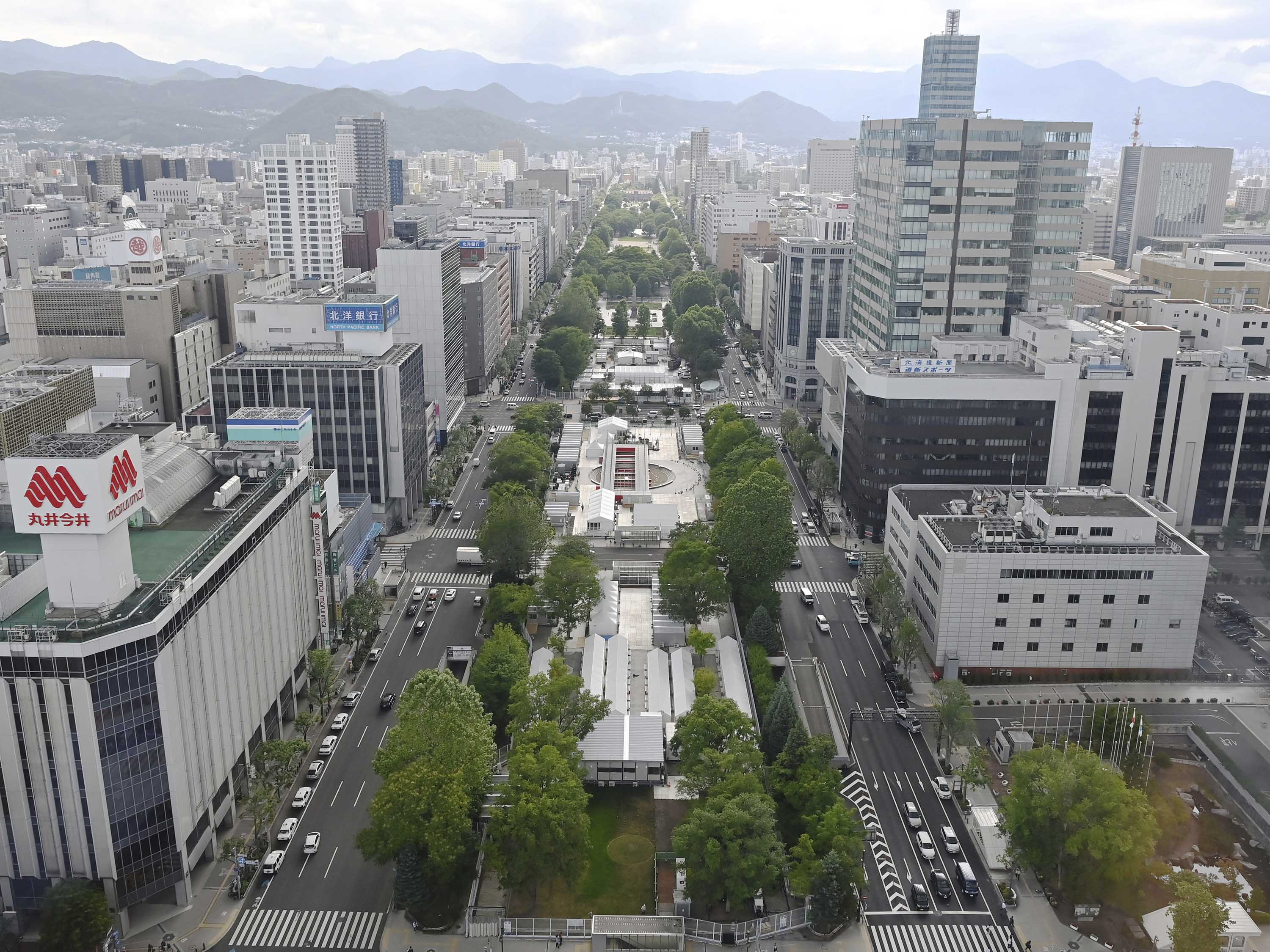 Sapporo Odori Park, the venue for the Olympic marathon and race walking events, is pictured in Sapporo, Japan, on July 12.