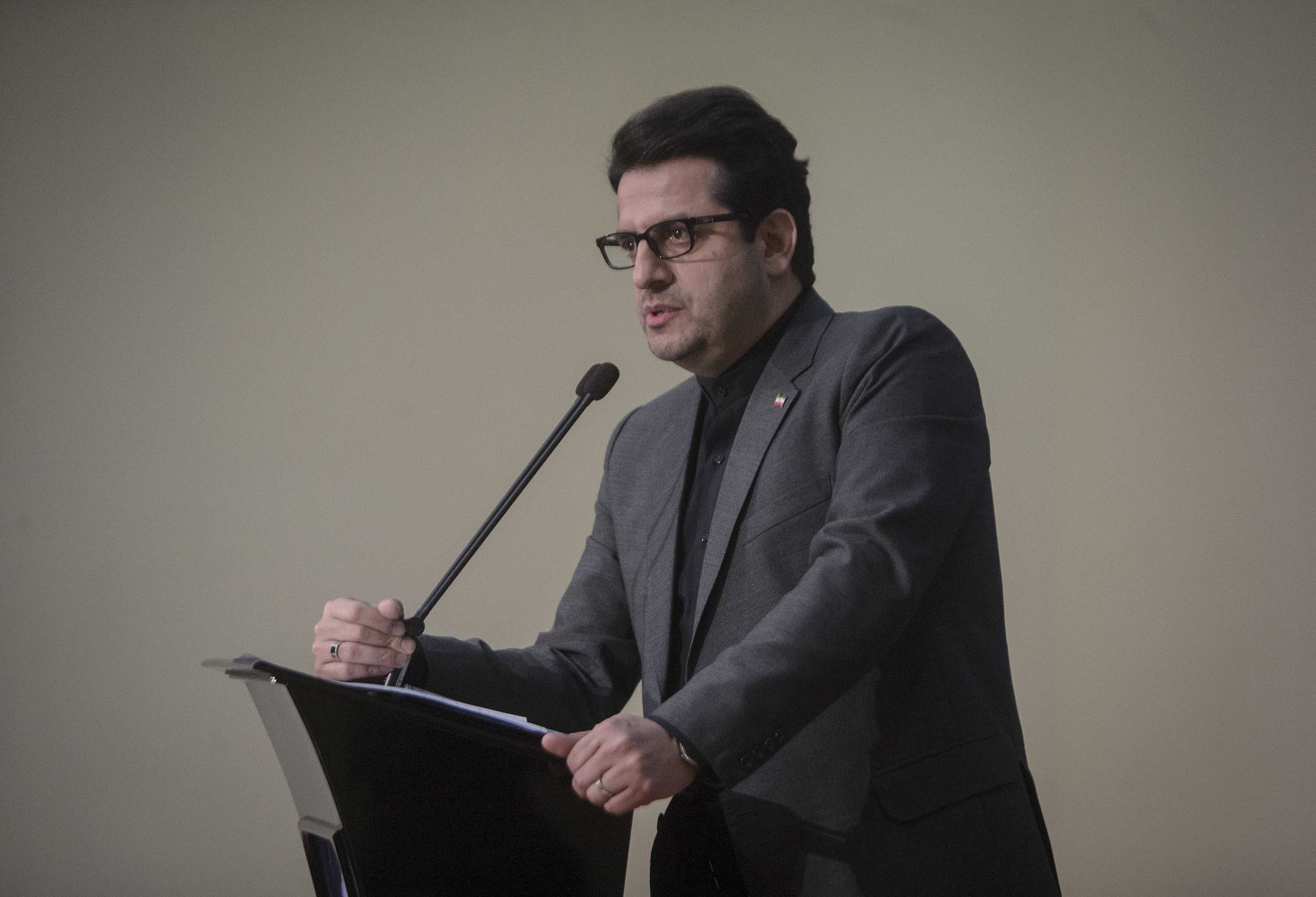 Iranian Foreign Ministry spokesman Abbas Mousavi speaks during a press conference in Tehran, Iran, on January 5.