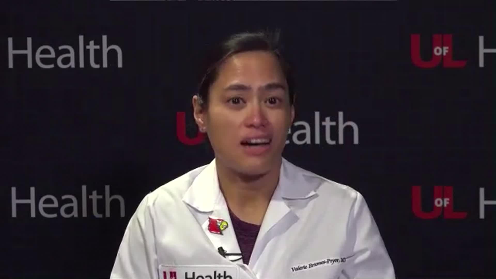 Dr. Valerie Briones-Pryor speaks during an interview on December 15.
