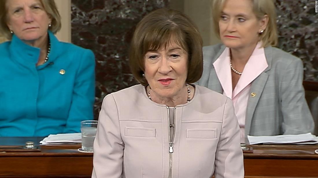 "Sen. Susan Collins said that ""absolutely"" Trump should sign the deal"