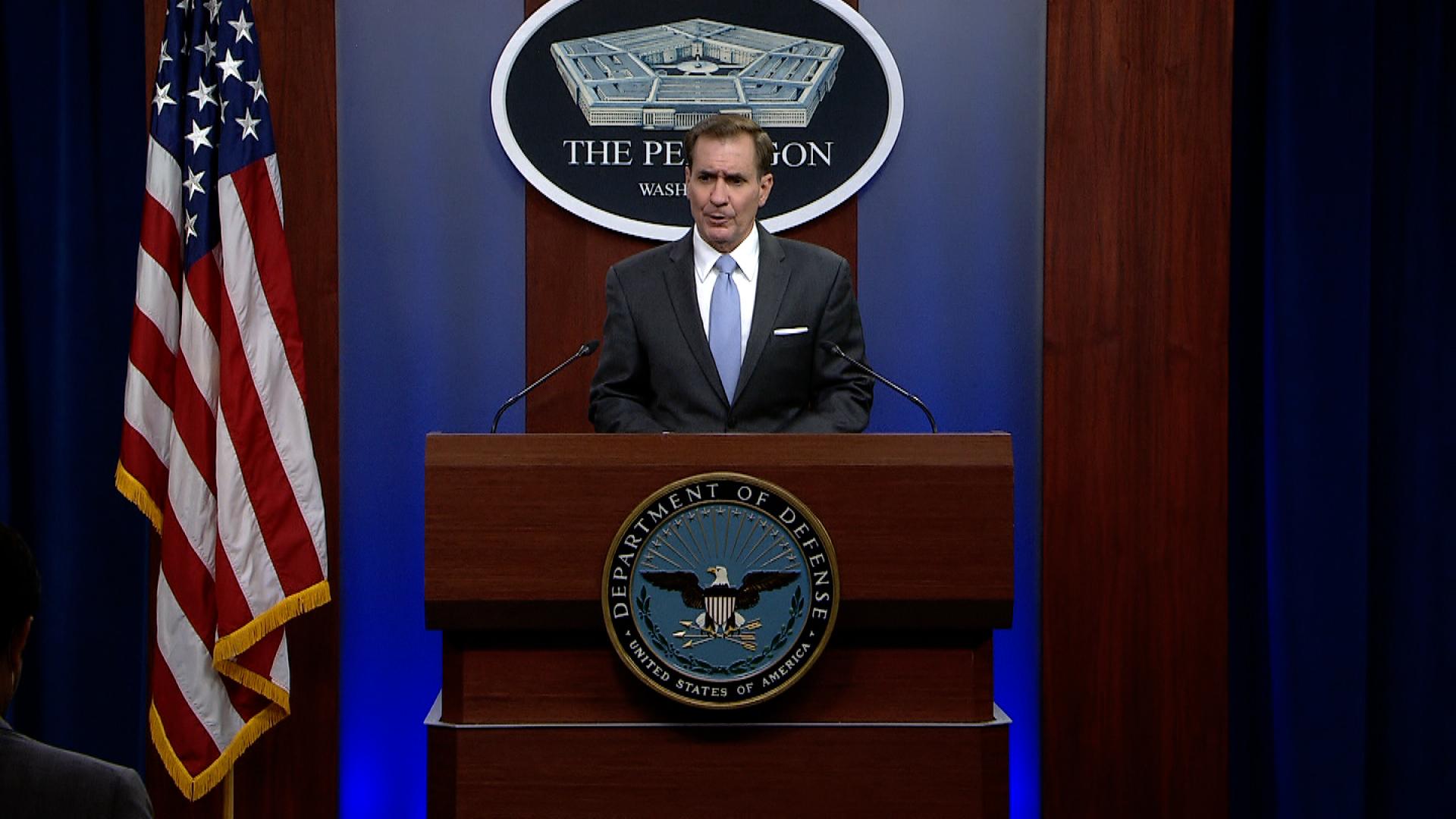 Pentagon press secretary John Kirby.