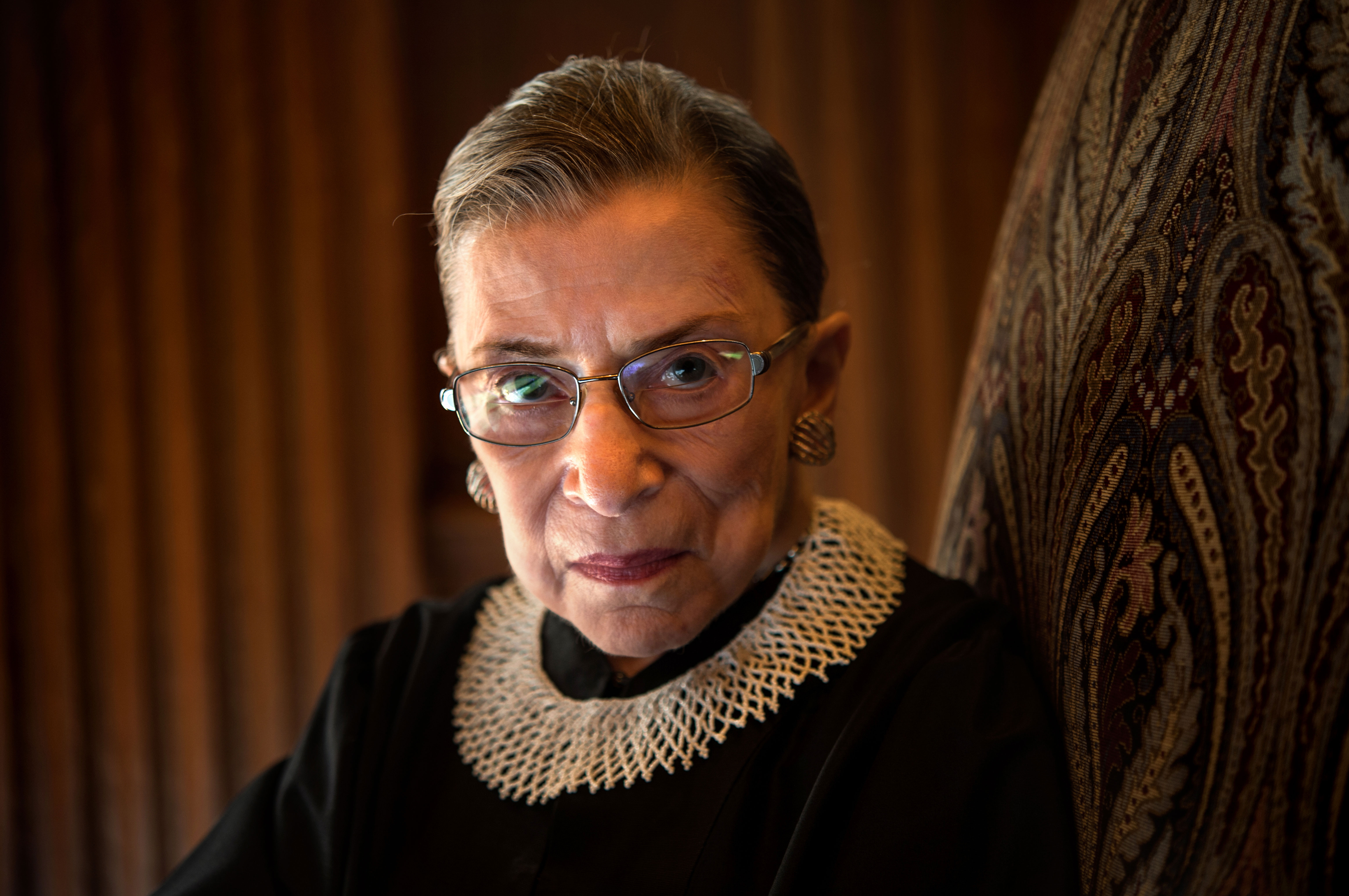 Justice Ruth Bader Ginsburg is photographed at the US Supreme Court in August 2013.