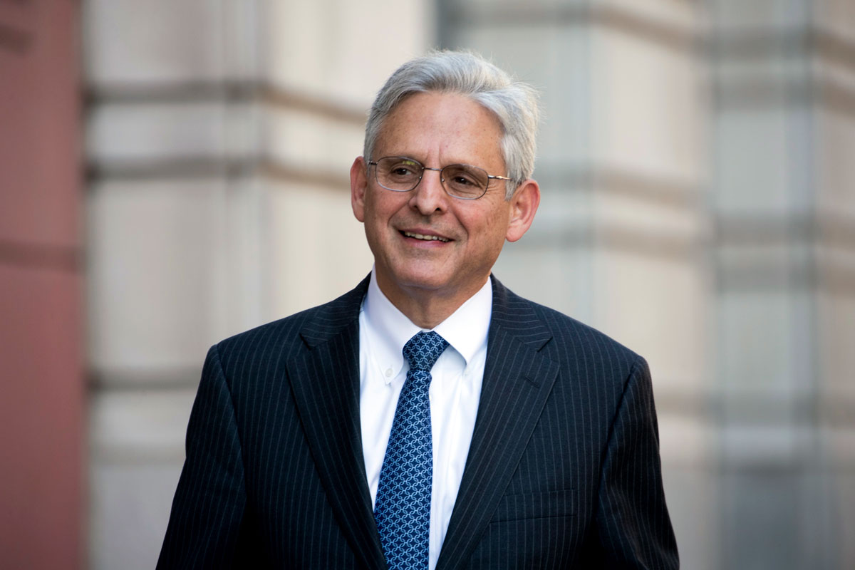 Merrick Garland walks into Federal District Court in Washington, DC on November 17, 2017.
