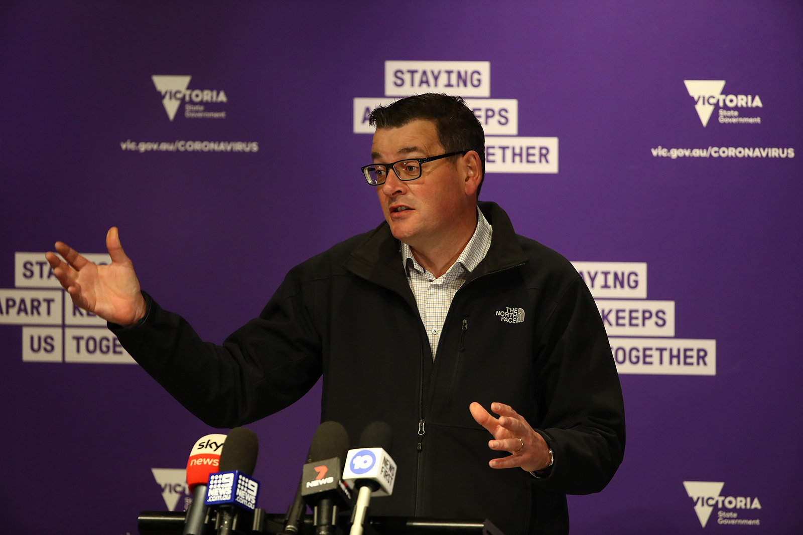Victorian Premier Daniel Andrews speaks to the media during a press conference on July 15, in Melbourne.