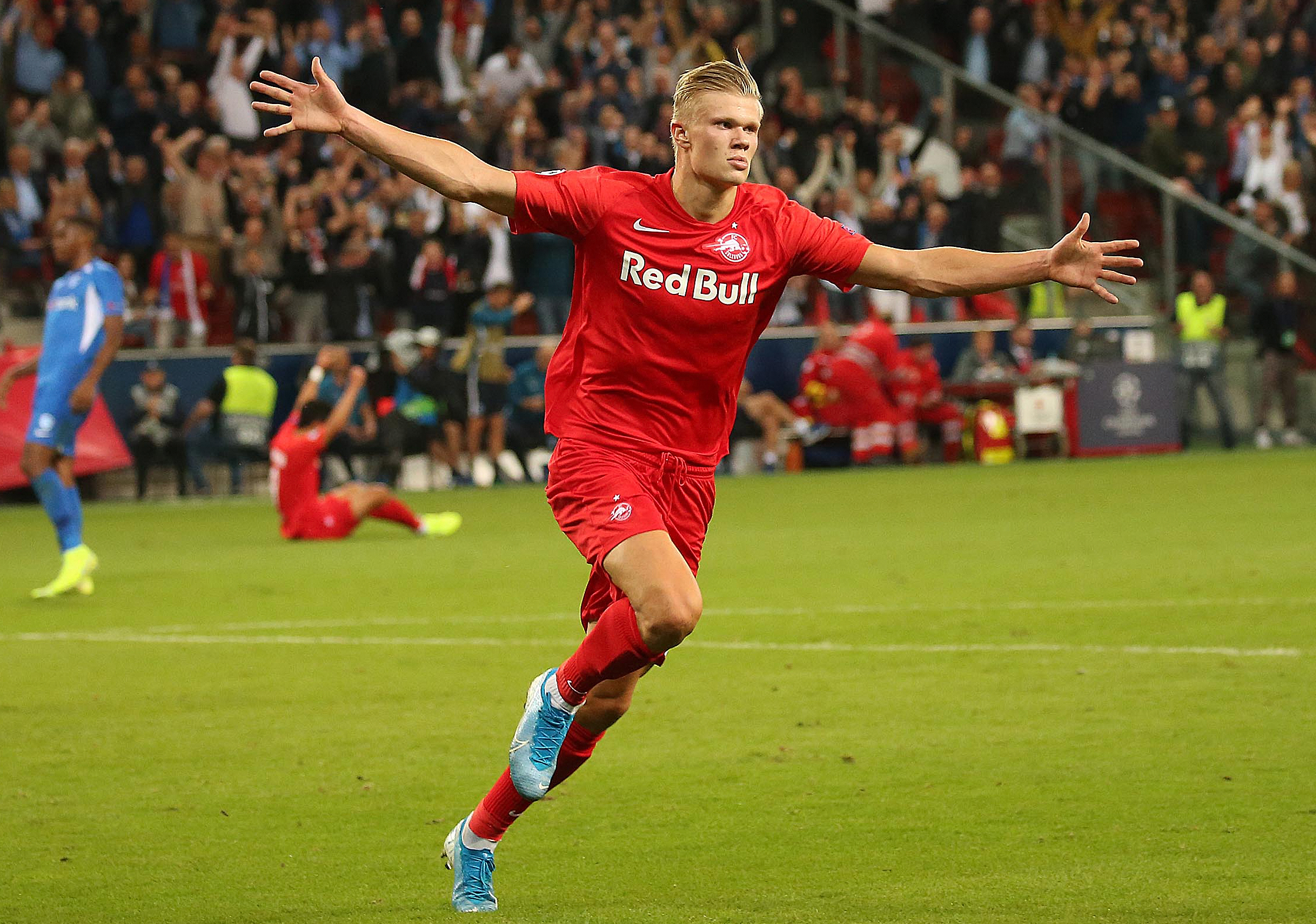 Erling Braut Haland scored a first half hat-trick in his side's 6-2 win over Genk.